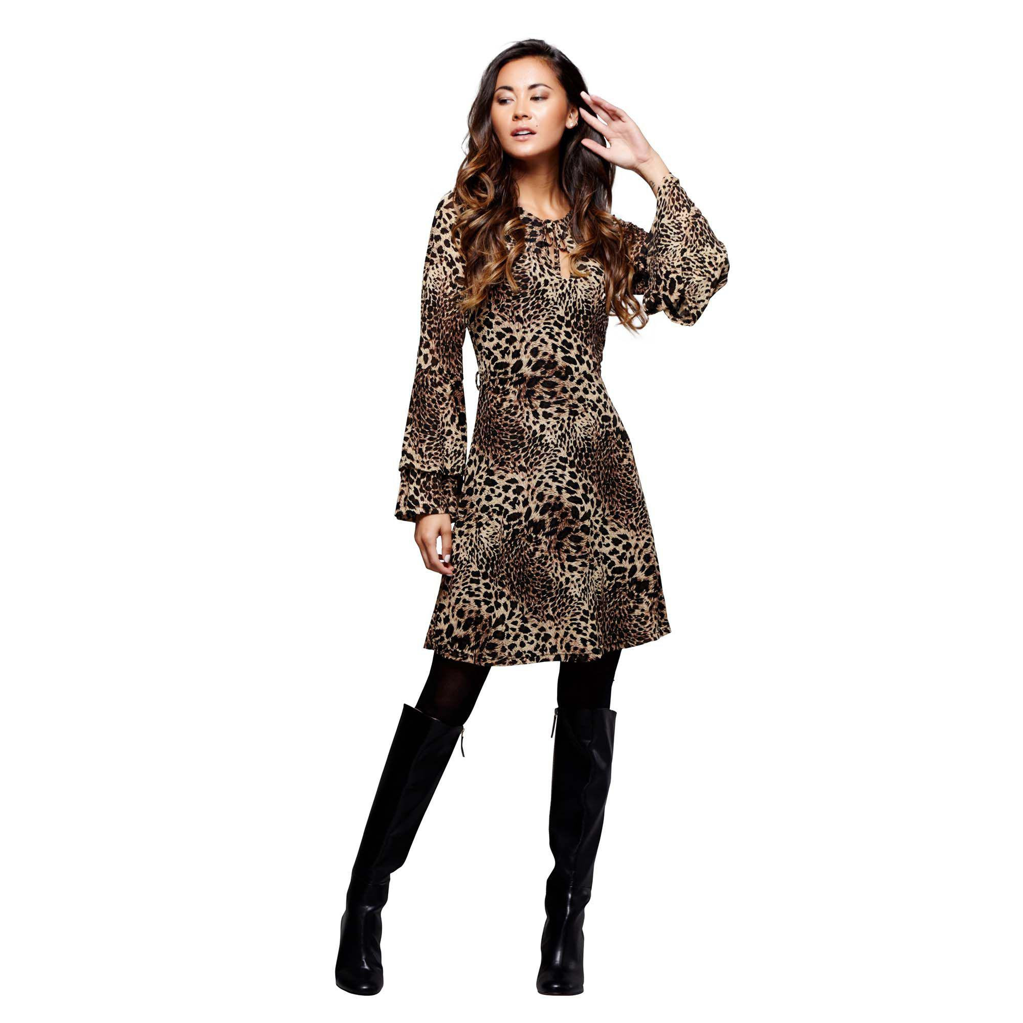 54a4de691e8e Mela Multicoloured Leopard Print 'husna' Mini Tunic Dress - Lyst