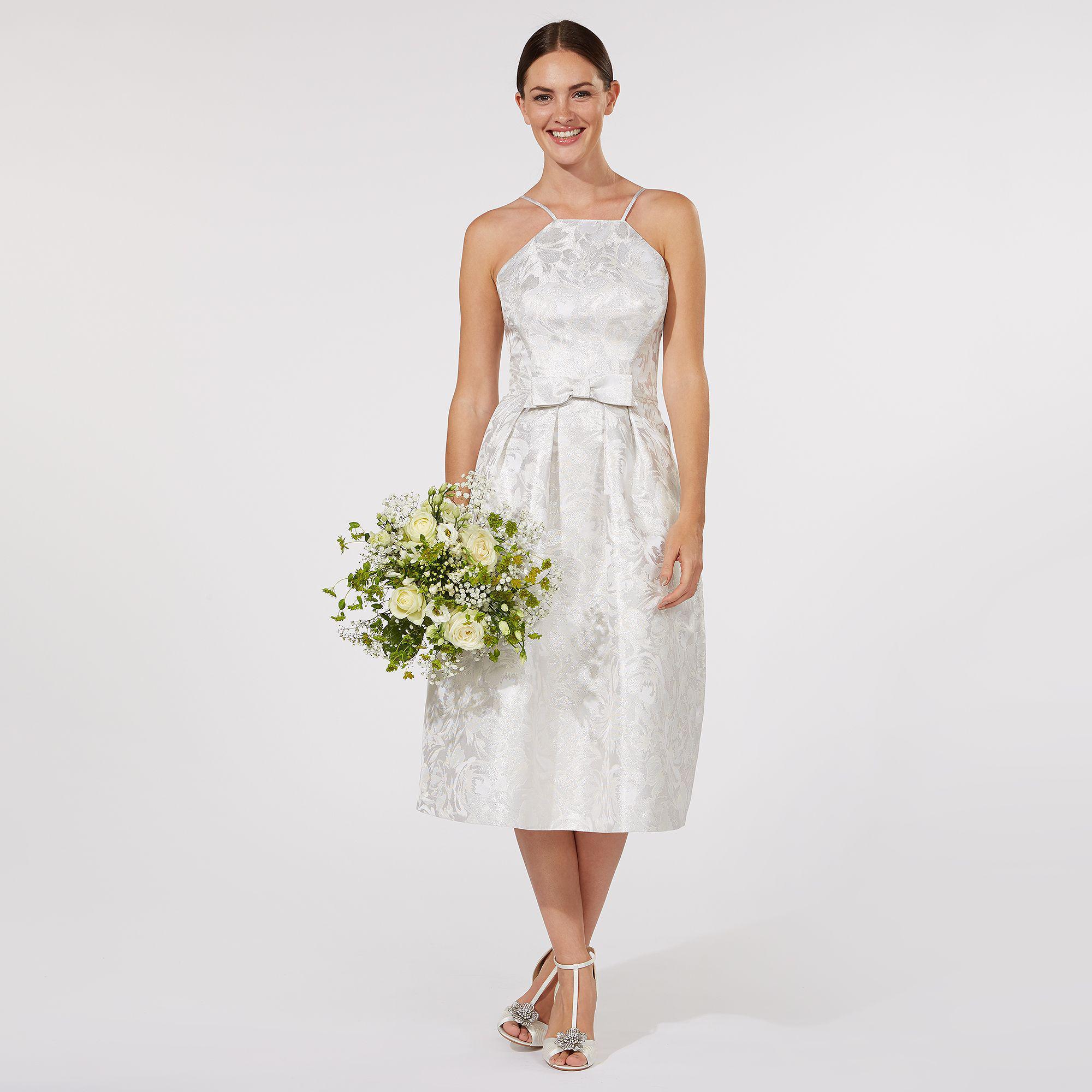 5448c5541106 Début Silver  honor  Midi Wedding Dress in White - Lyst