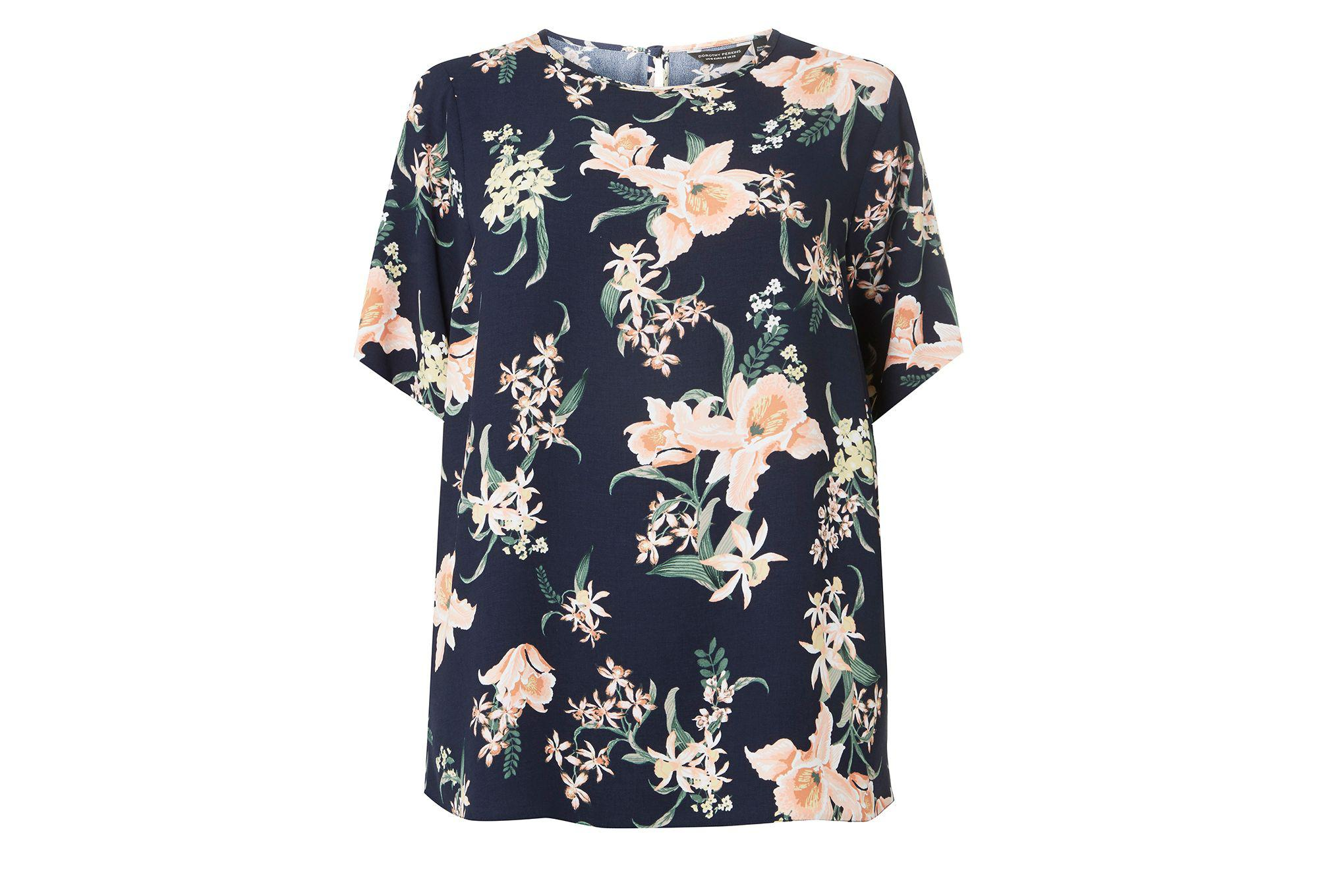 Looking For Cheap Price Buy Cheap Explore Dorothy Perkins Womens **DP Curve Tropical Pleat Blouse- iy8QUc3KN
