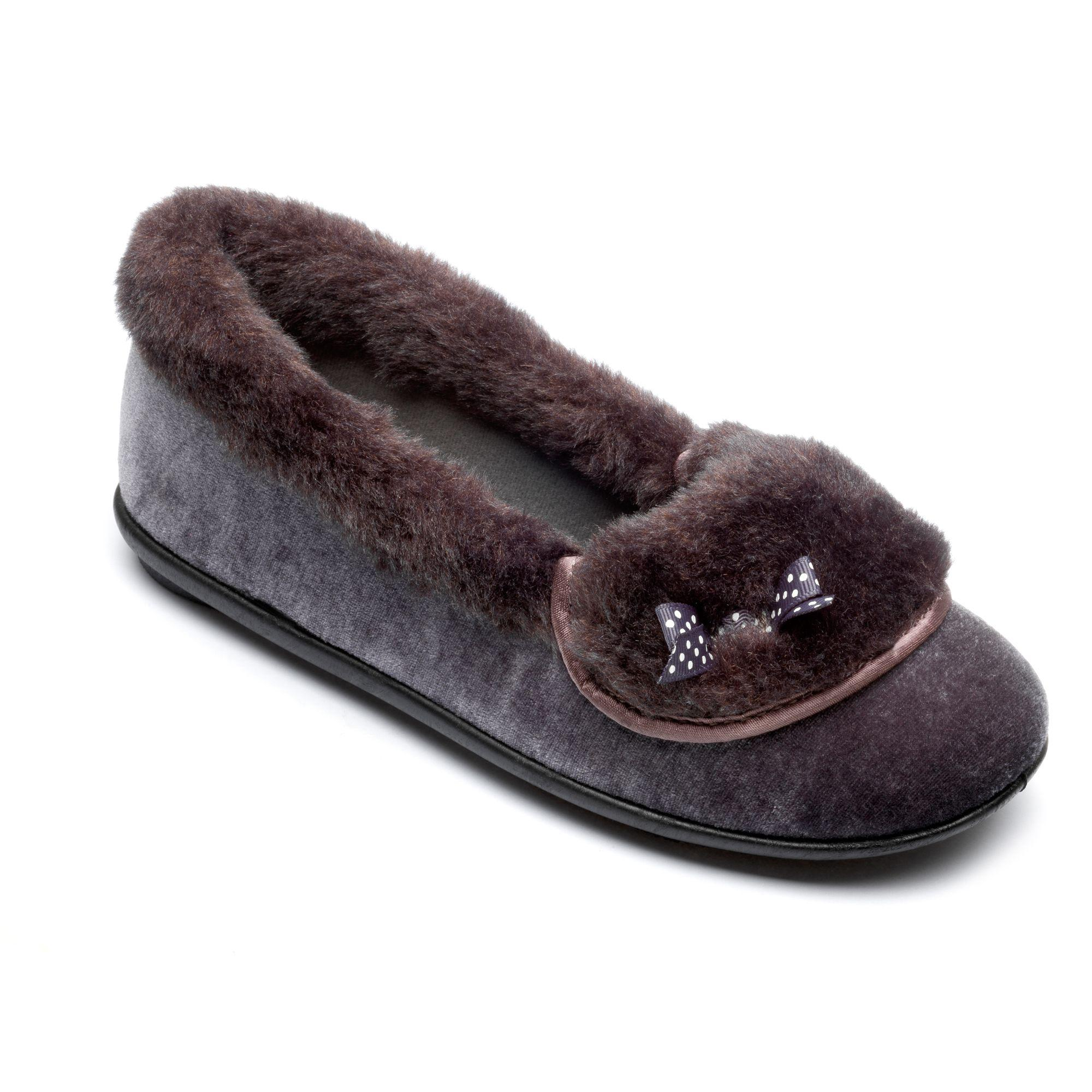 Ladies charcoal 'Maria' slippers clearance best wholesale discount shop RjQpk1yeZN