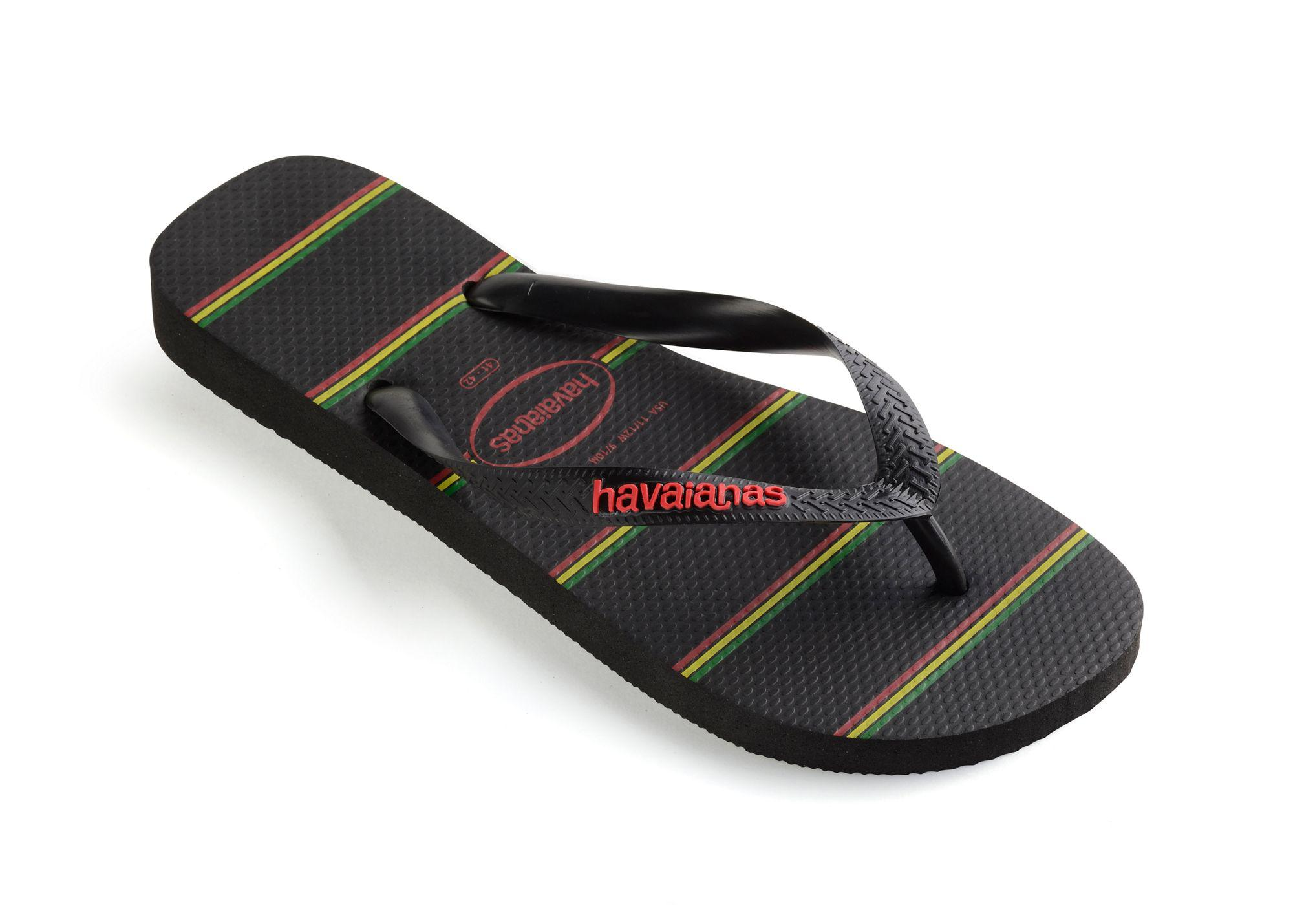 fc889bcd5 Havaianas - Black Top Stripes Logo Flip Flops for Men - Lyst. View  fullscreen