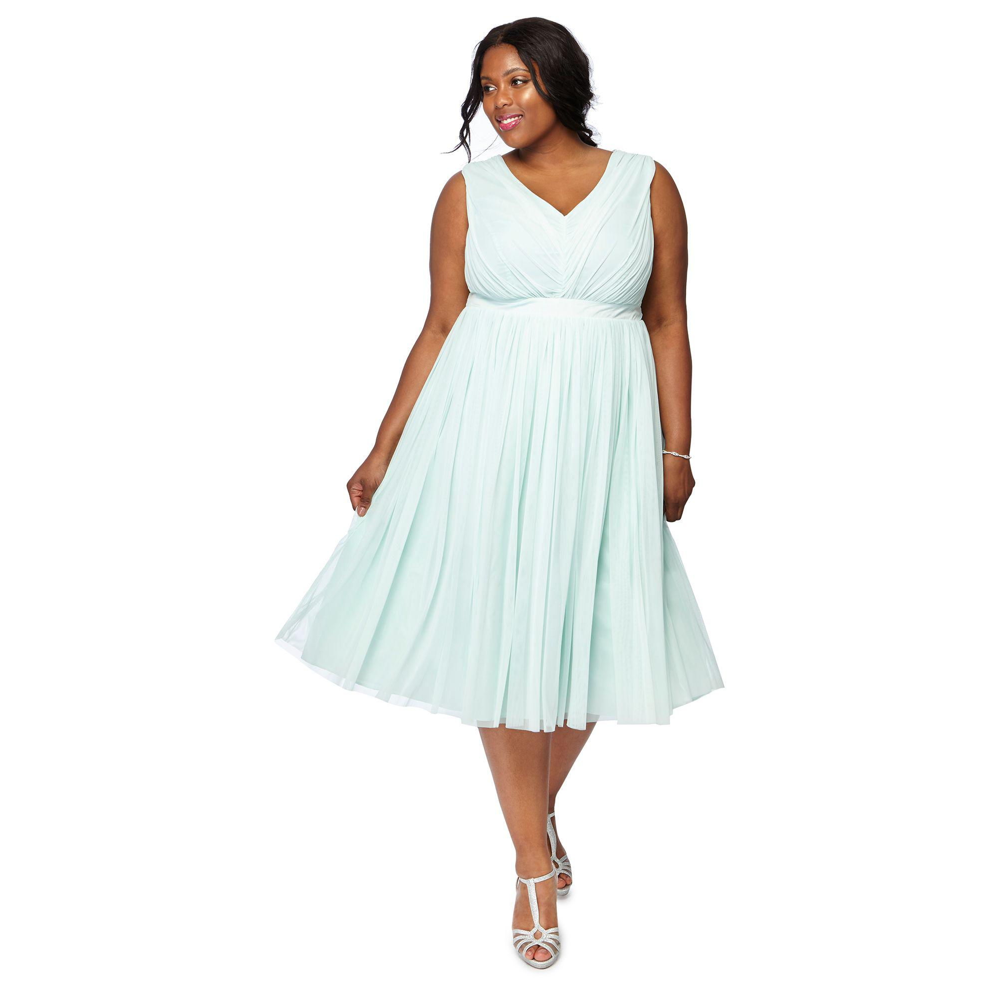 52851694363ee Début Pale Green 'mia' Mesh Plus Size Bridesmaid Dress in Green - Lyst