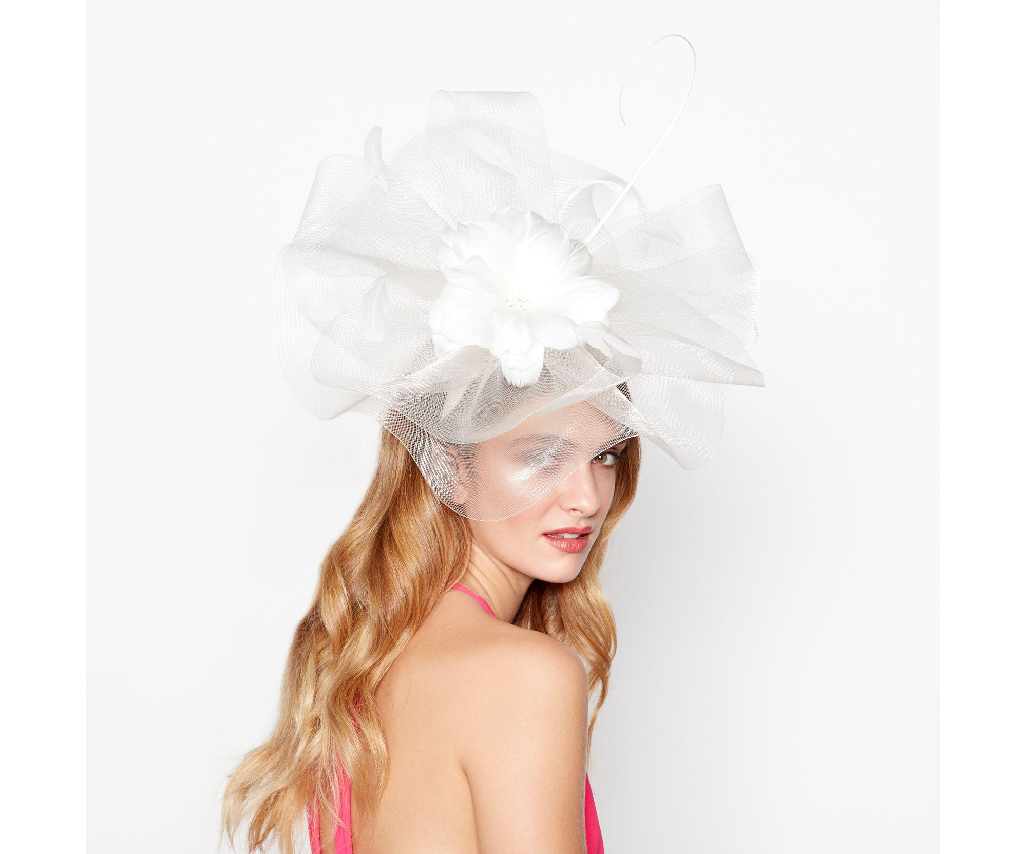 Dbut Ivory Flower Crown Fascinator In White Lyst