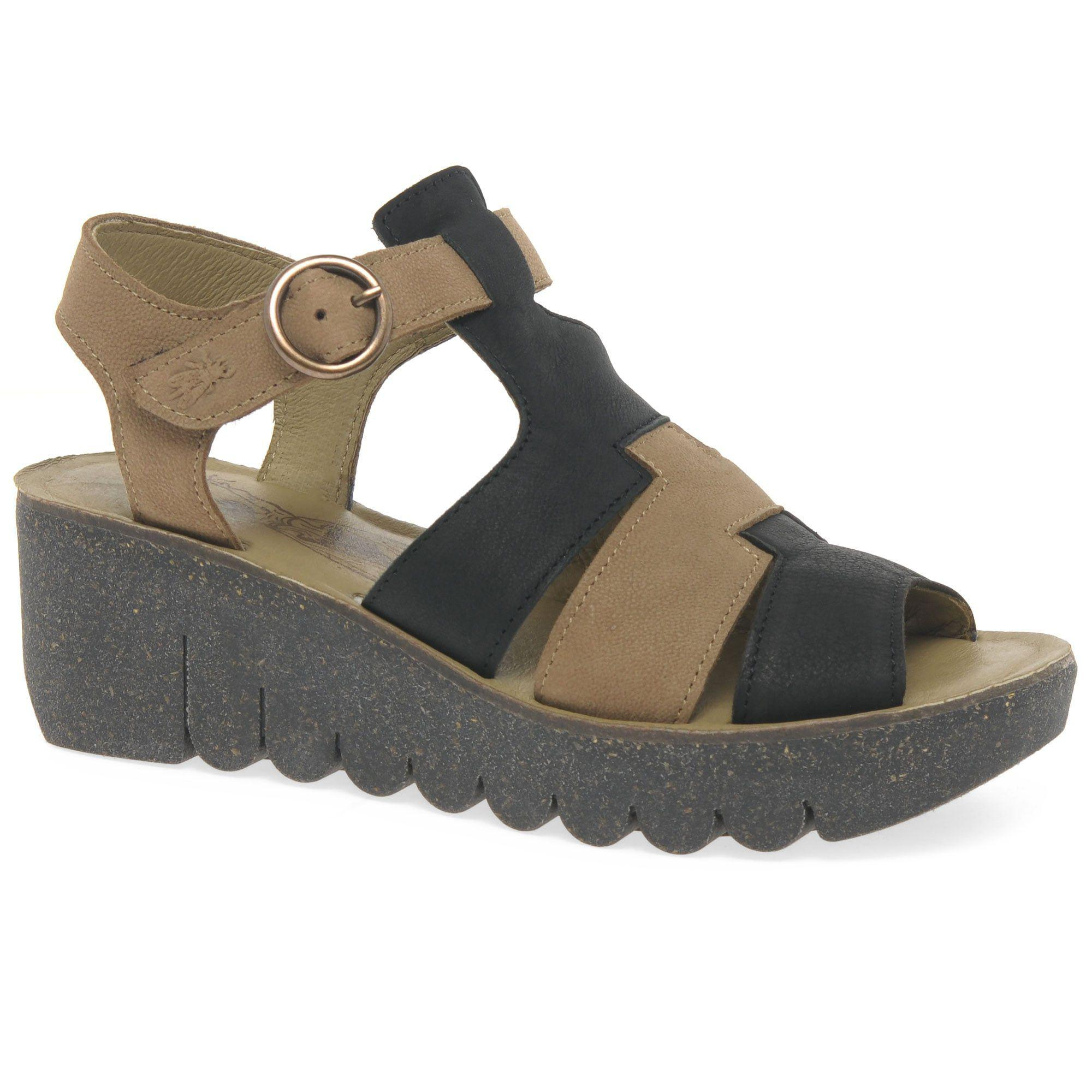 Multi Coloured leather 'Yuni' high wedge sandals fashionable looking for cheap online wIKoe