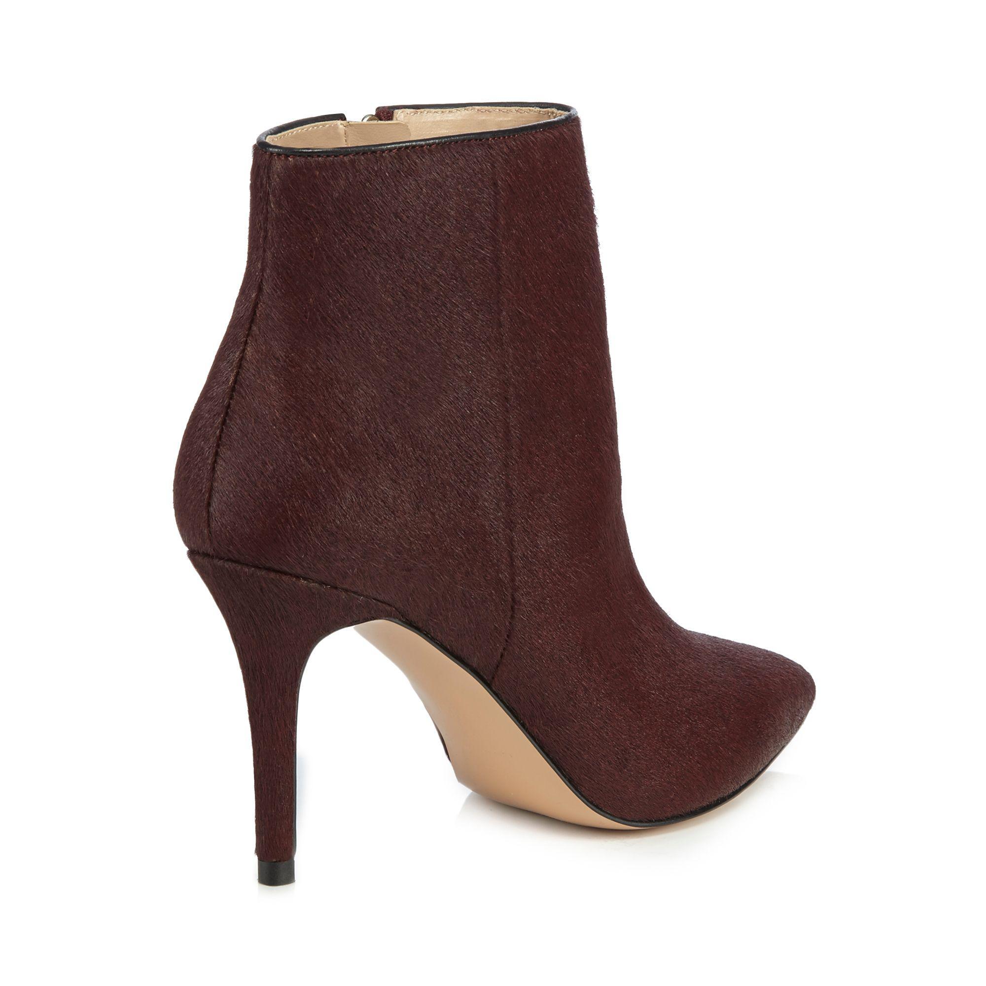 5f2a4e49cea J By Jasper Conran Dark Red Leather  jordyn  High Stiletto Heel ...