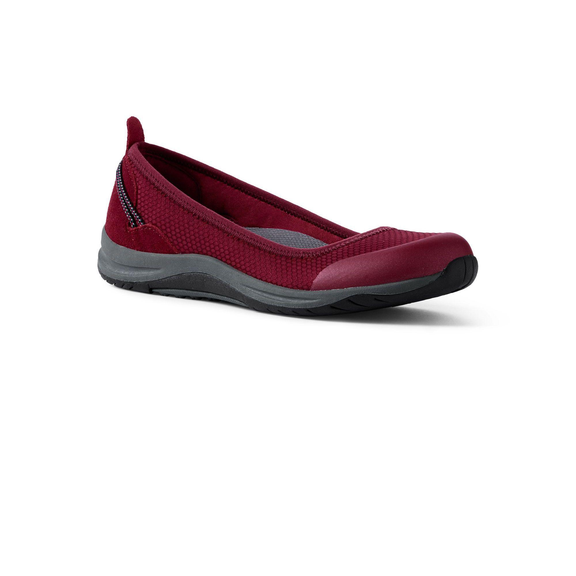 d4fb7d09d24c Lands' End Red Wide Comfort Ballet Pumps in Red - Lyst