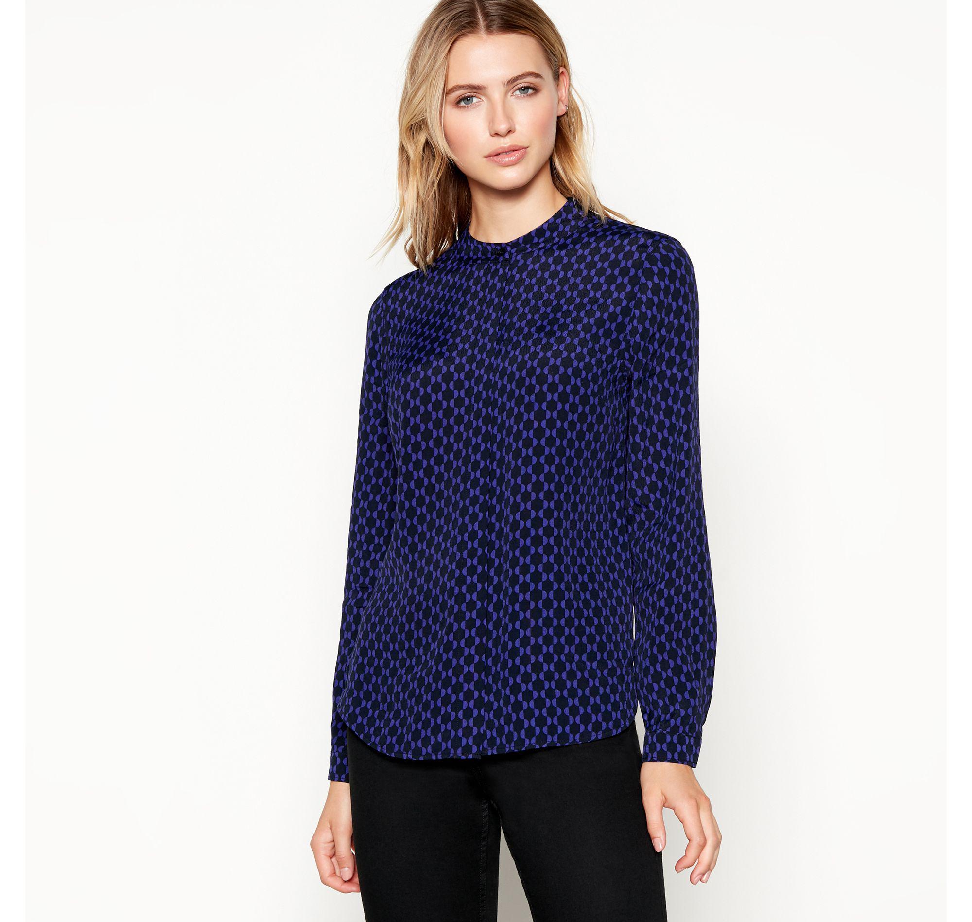 698e5898ffa656 J By Jasper Conran Black Spot Print Shirt in Purple - Lyst