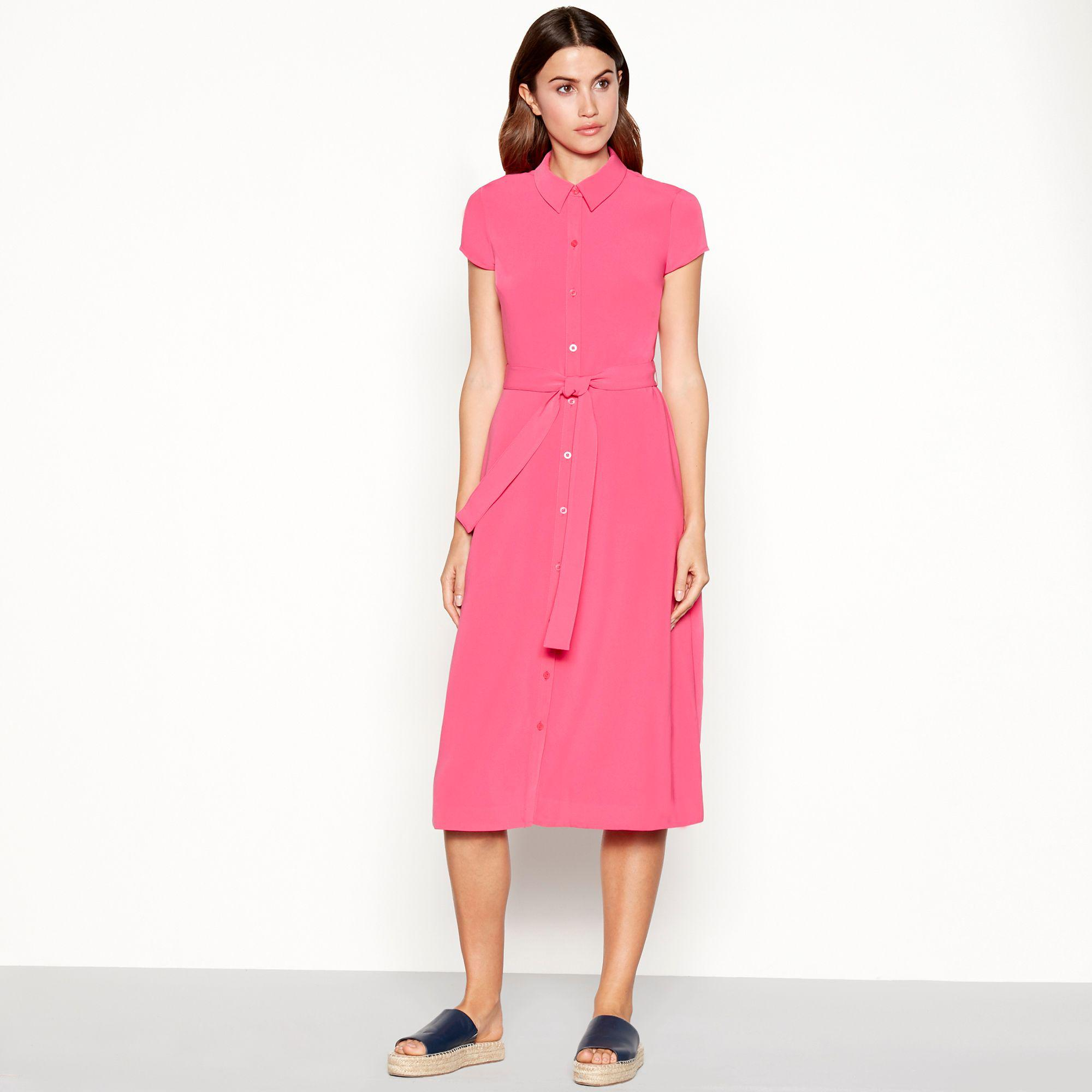 91bac65fc021 J By Jasper Conran Pink Shirt Midi Dress in Pink - Lyst