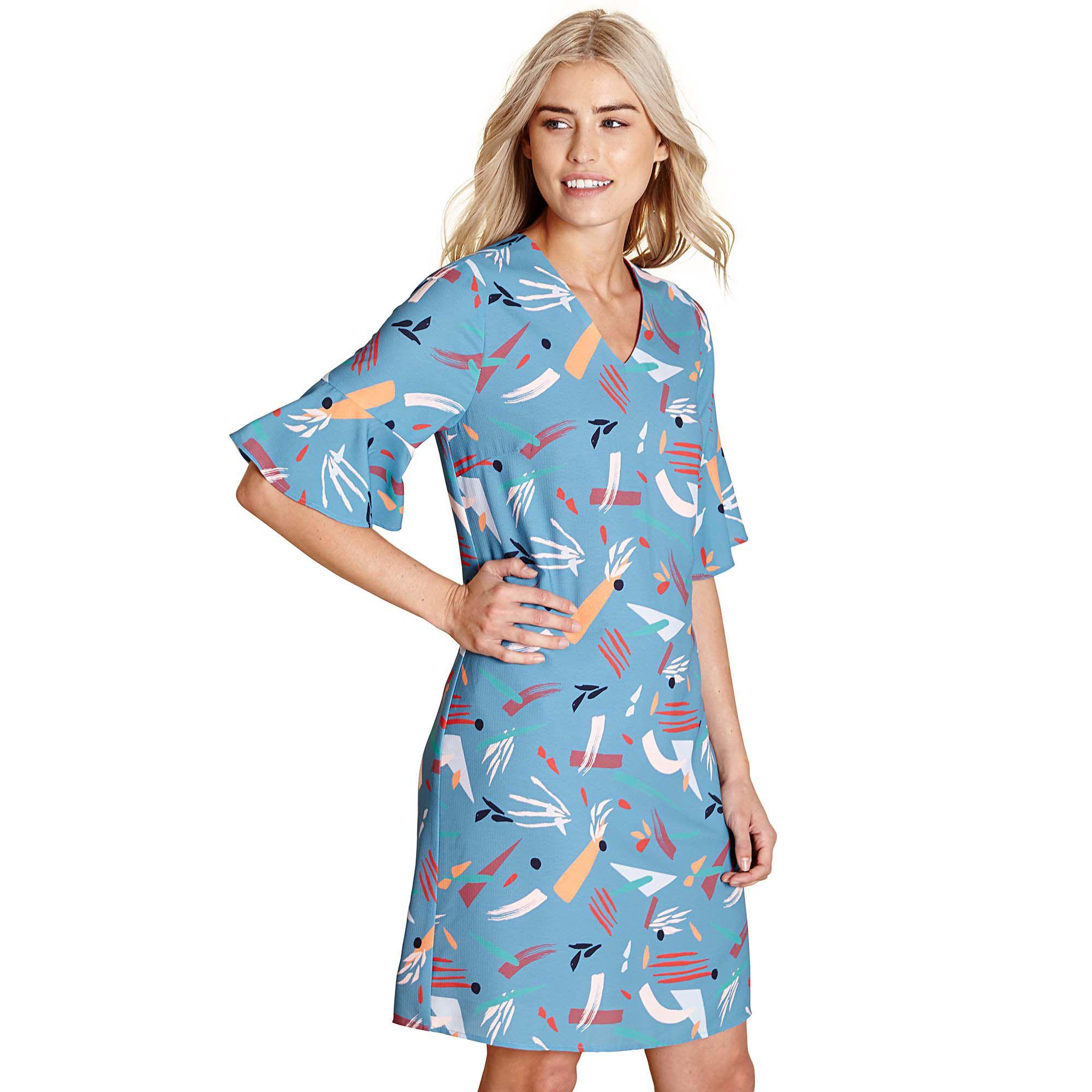 7e8e81a172d Yumi' Light Blue Abstract Print 'canei' Tunic Dress in Blue - Lyst