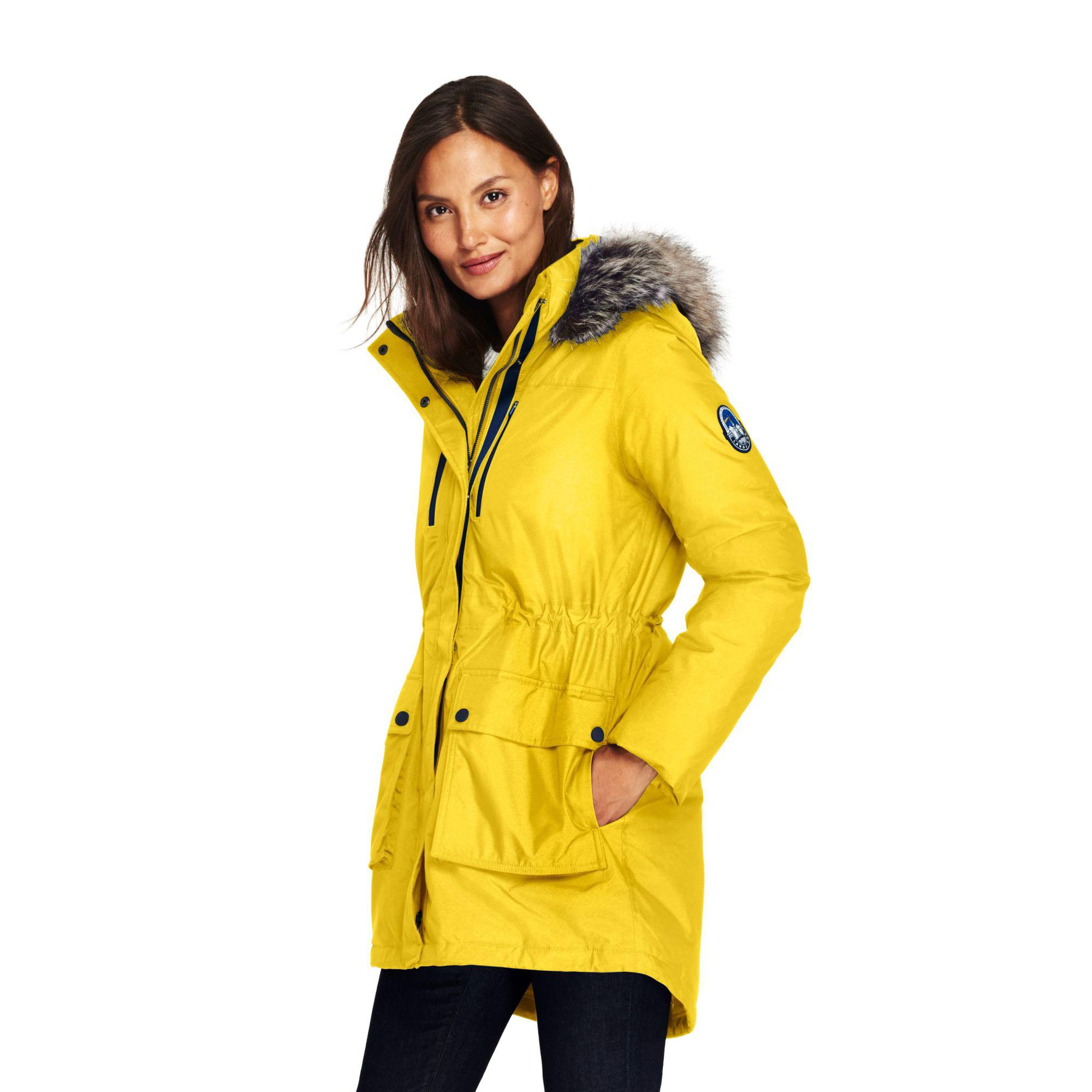 ebbb6f7ea590 Lands' End Yellow Expedition Down Coat in Yellow - Lyst