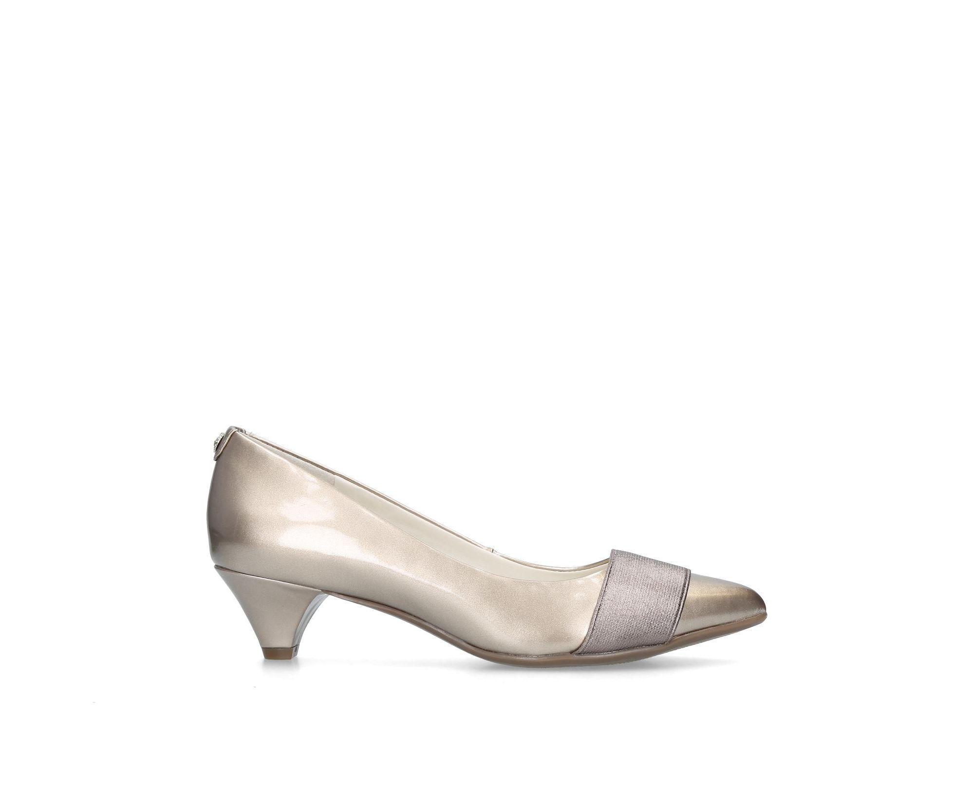 c48795e9e48 Anne Klein Bronze  xaria  Kitten Heel Court Shoes in Metallic - Lyst