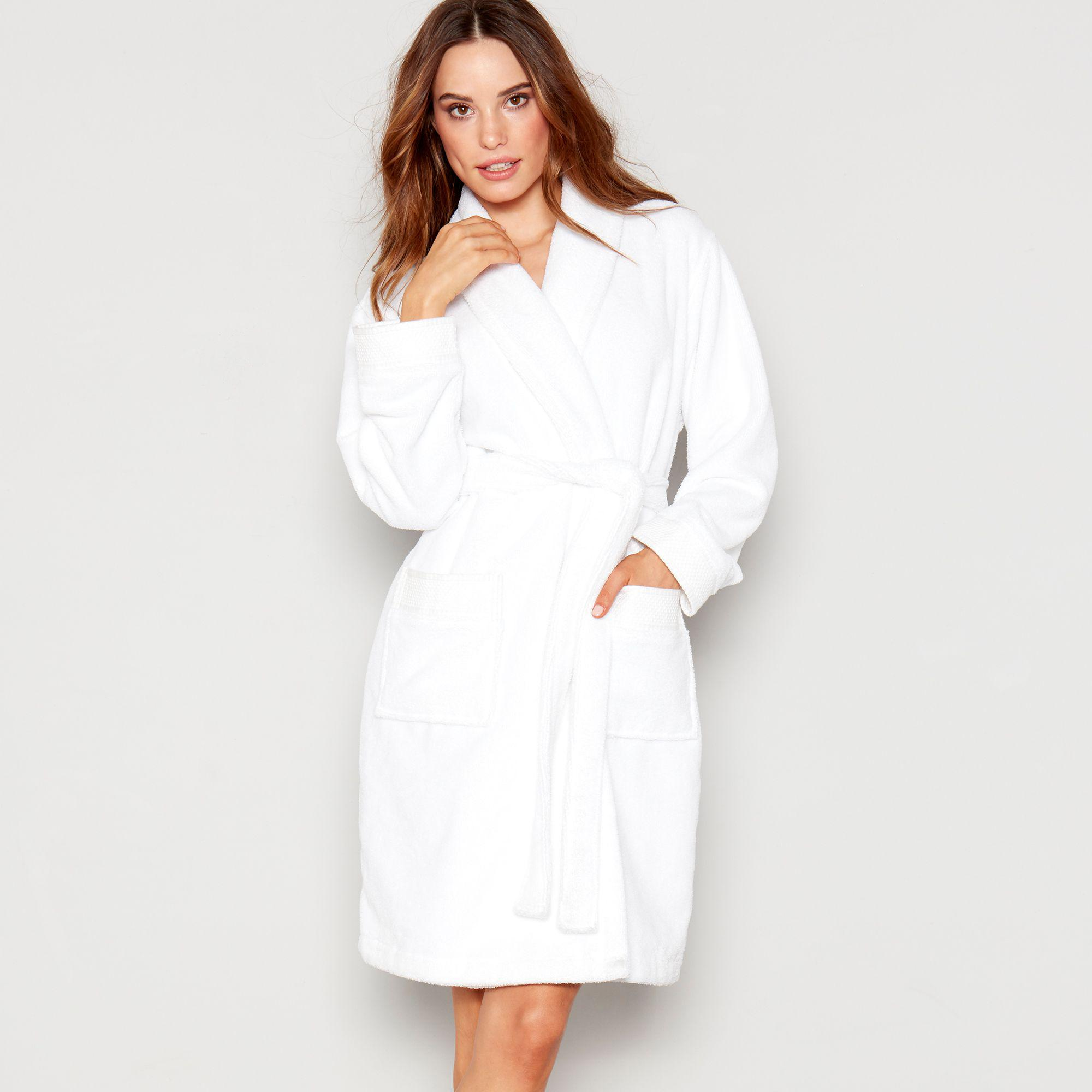 J By Jasper Conran White Towelling Dressing Gown in White - Lyst f387943e8