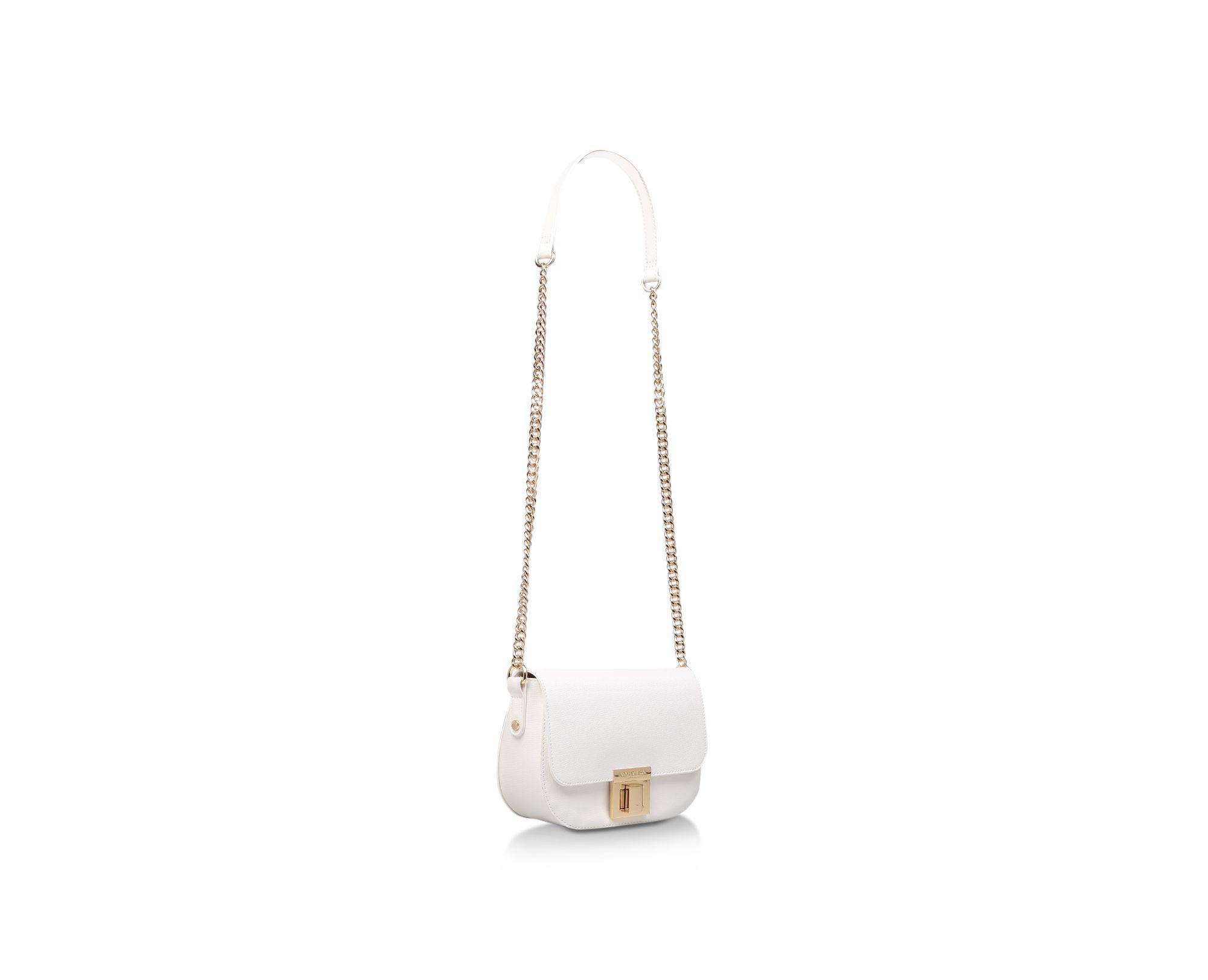 Carvela Kurt Geiger - White  sara Clean Saddle Bag  Cross Body Bag - Lyst.  View fullscreen 823275bcce82a