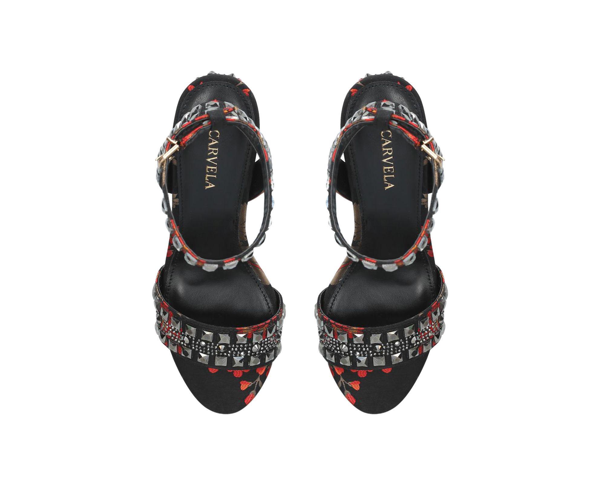 52826564f23 Carvela Kurt Geiger - Multicolor Red  gill  Mid Heel Sandals - Lyst. View  fullscreen