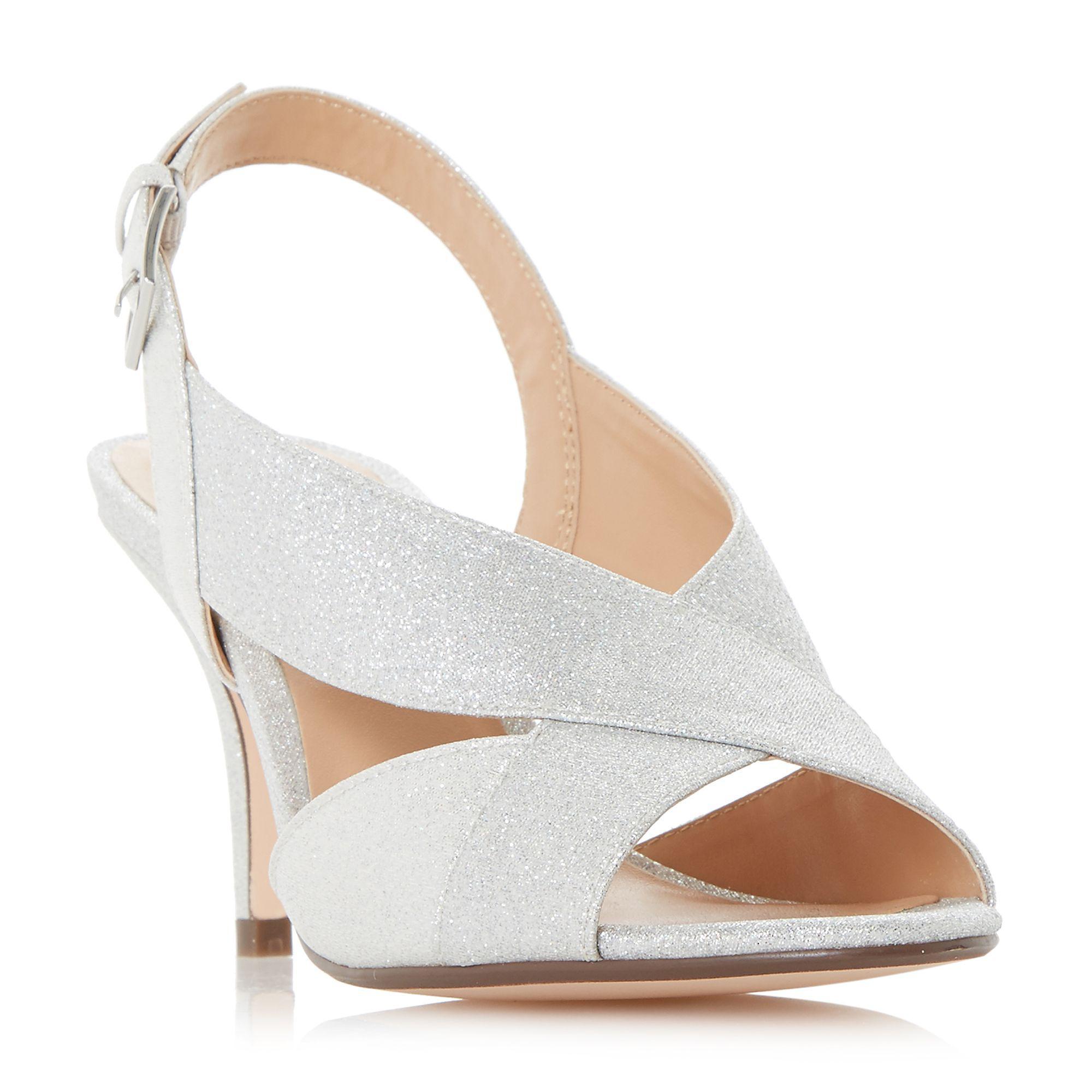 46622ee2e54 Roland Cartier Silver  matilda  Mid Kitten Heel Court Shoes in ...