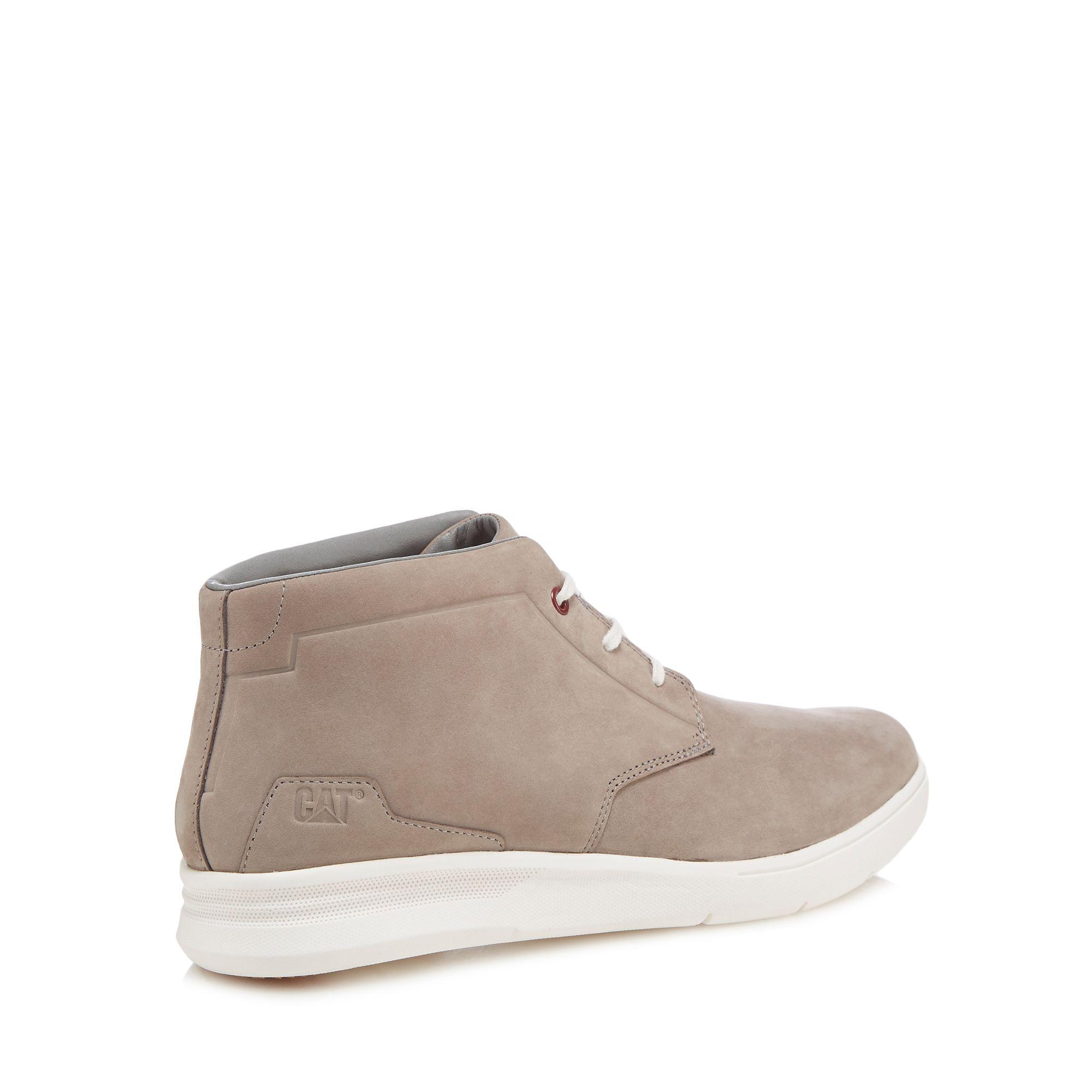5a5b4fe973c1c Caterpillar Grey Nubuck 'theorem' Chukka Boots in Gray for Men - Lyst