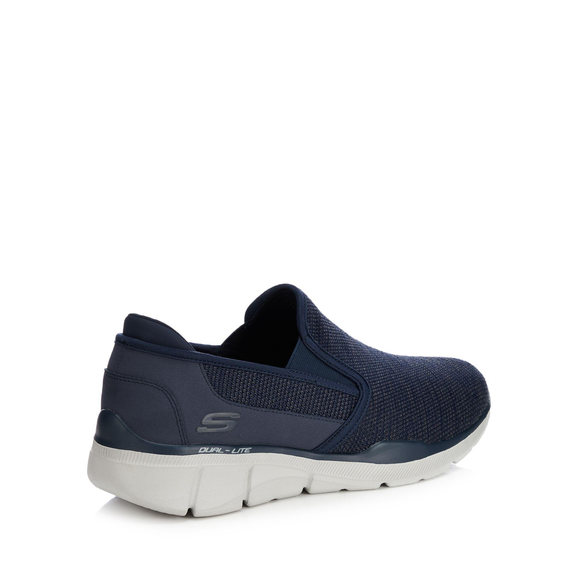 4a7d39a10c3e Skechers Navy Knit  equalizer 3.0  Slip-on Trainers in Blue for Men ...