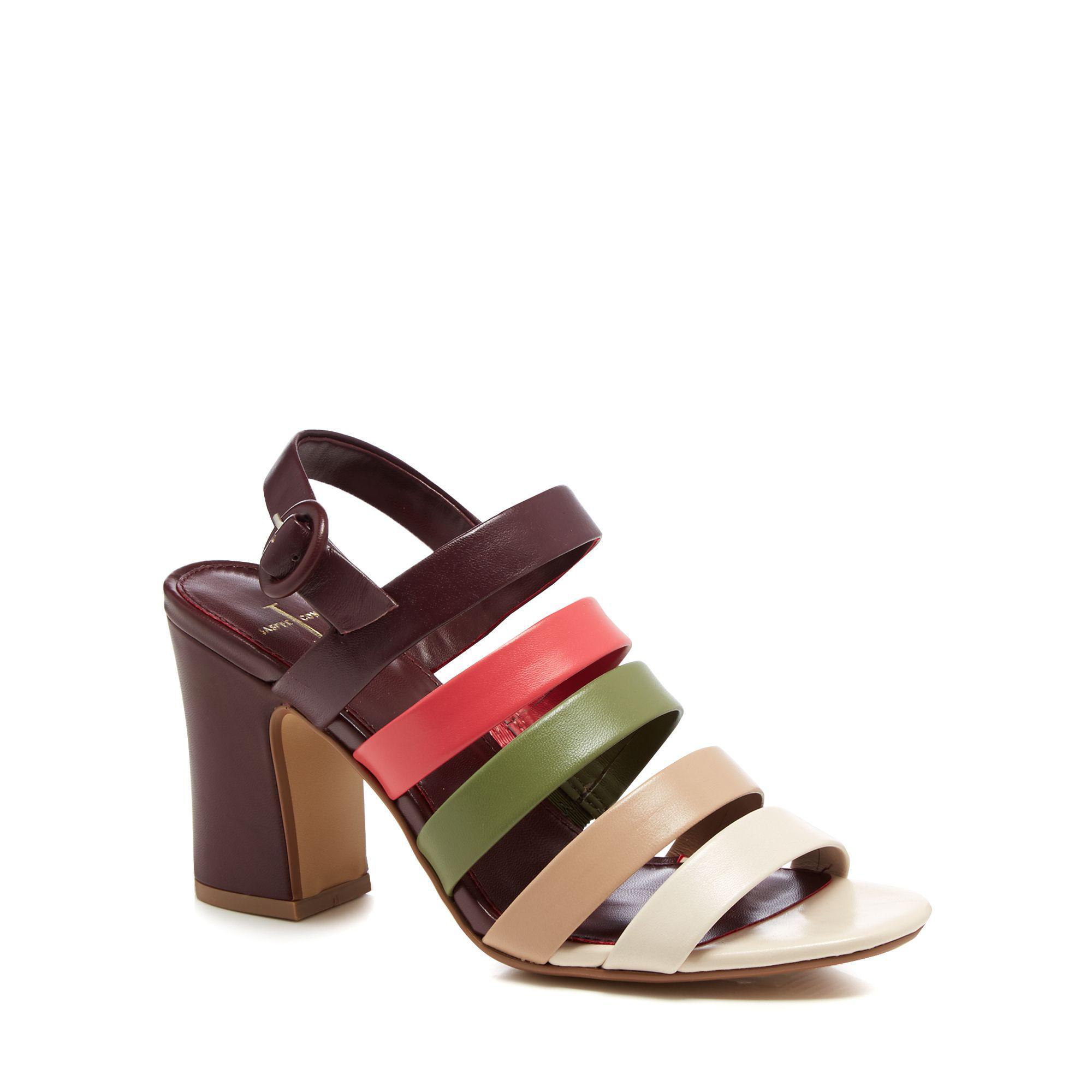 b5906e50b09f47 J By Jasper Conran Multi-coloured Leather  joelle  High Block Heel ...