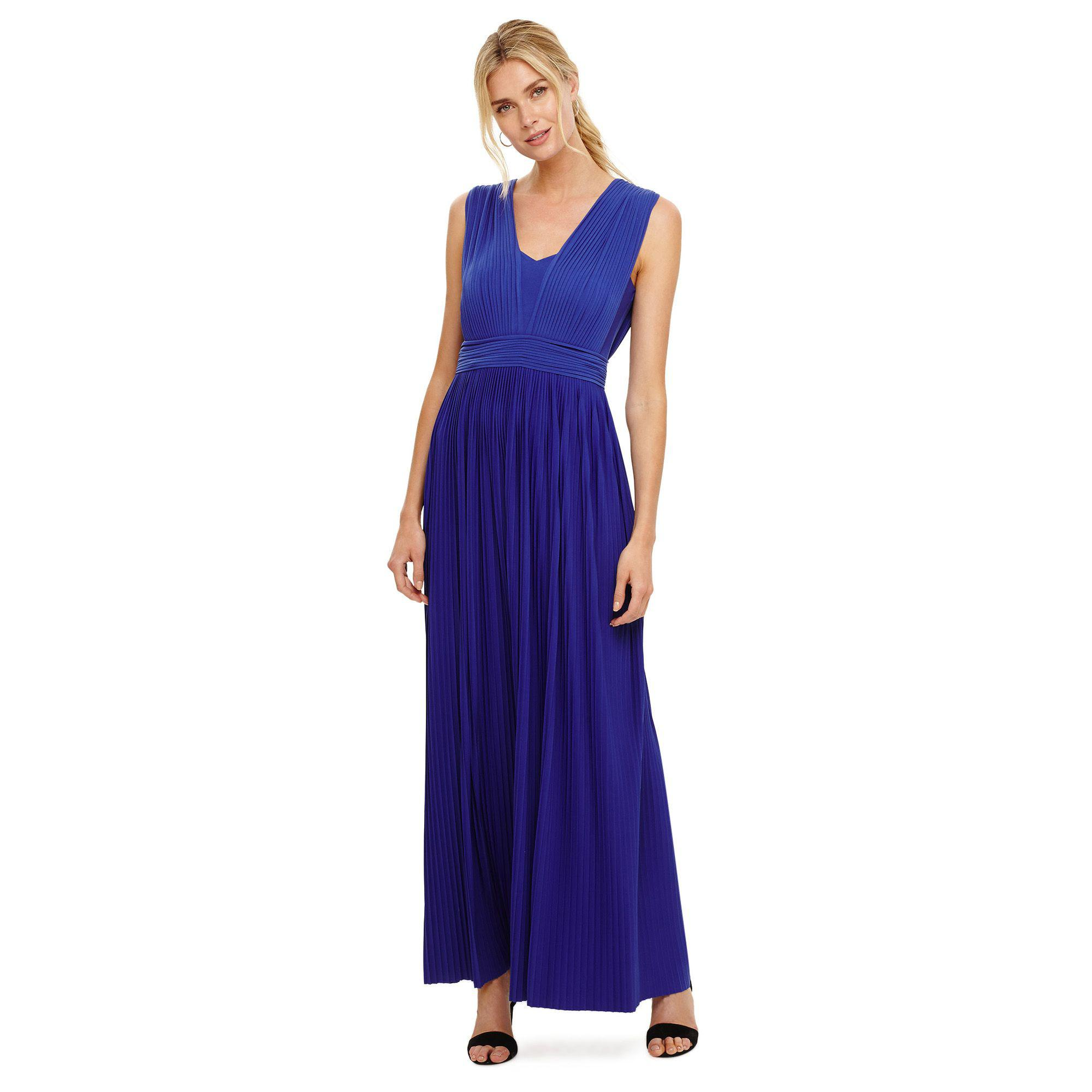 Phase Eight Aldora Pleated Maxi Dress in Blue - Lyst