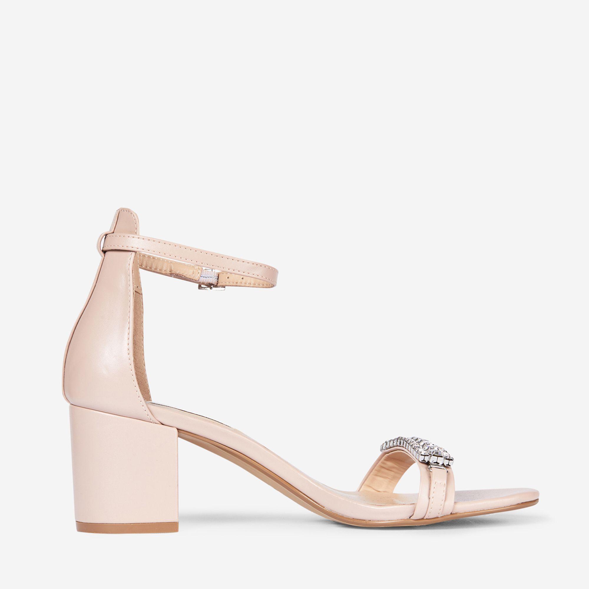 cfcbd7688885 Dorothy Perkins Showcase Nude Polyurethane Sapphire Sandals in ...