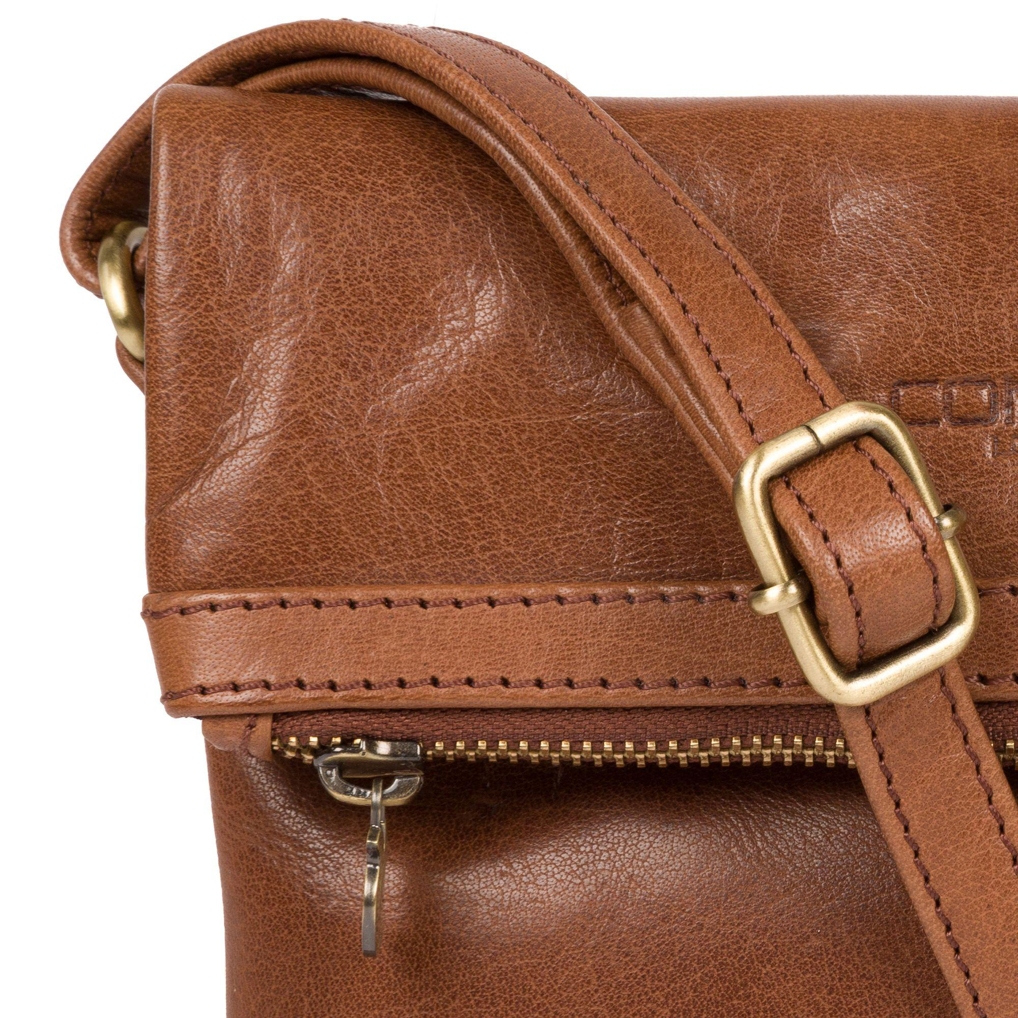 87186d92c5 Conkca London - Conker Brown  emin  Leather Cross-body Bag - Lyst. View  fullscreen