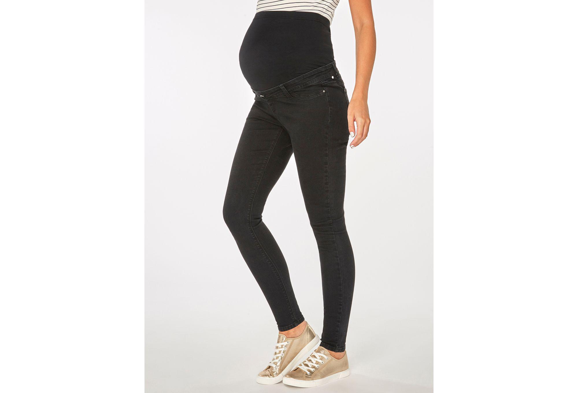 a4c4d2cf9af83 Dorothy Perkins Maternity Black Darcy Ankle Grazer Jeans in Black - Lyst
