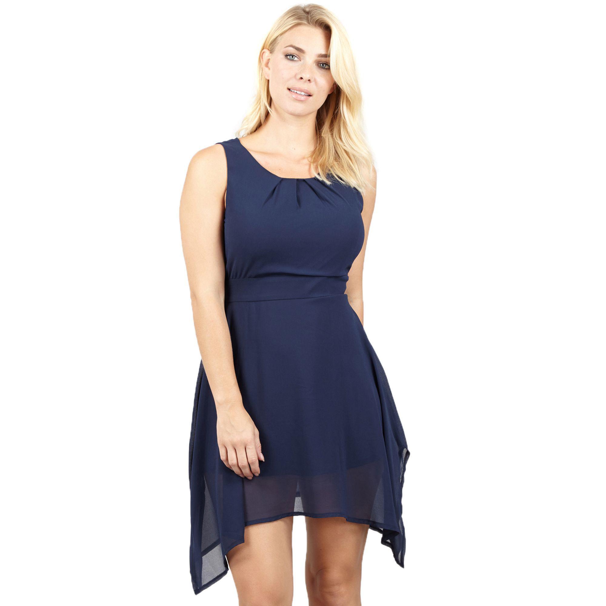 d7536aa88a99 Izabel London Navy Tie Belted Dress in Blue - Lyst