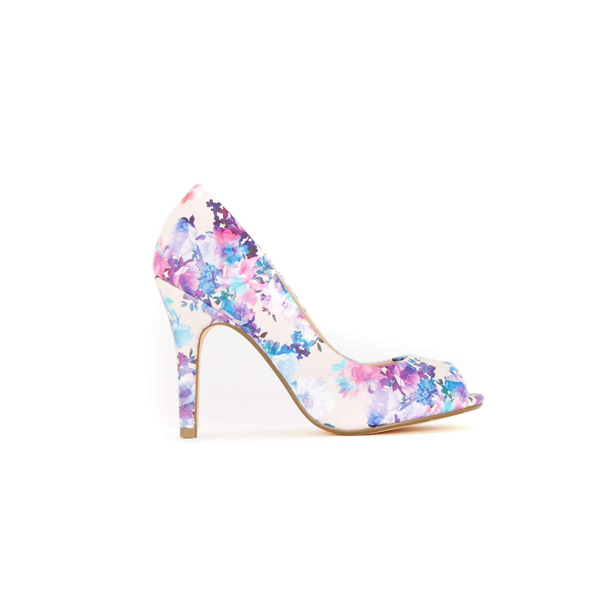 a7931ed2adc Wallis Pale Pink Peep Toe Court Shoes in Pink - Lyst