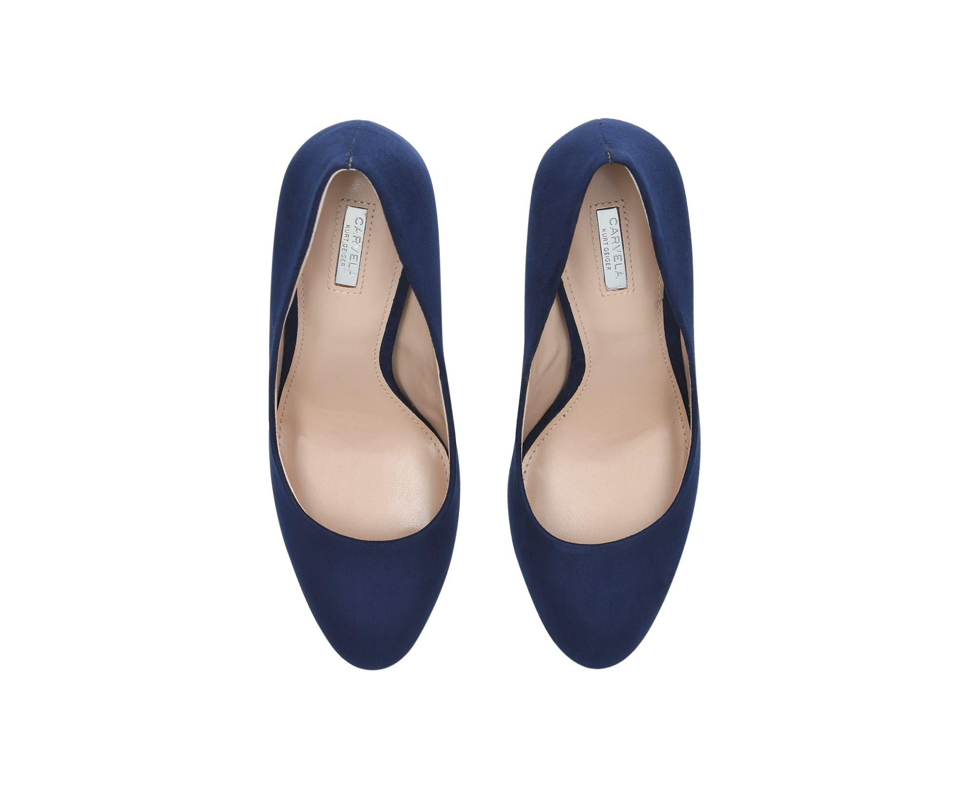 54050157173 Carvela Kurt Geiger - Blue Navy  aimee  Mid Heel Court Shoes - Lyst. View  fullscreen