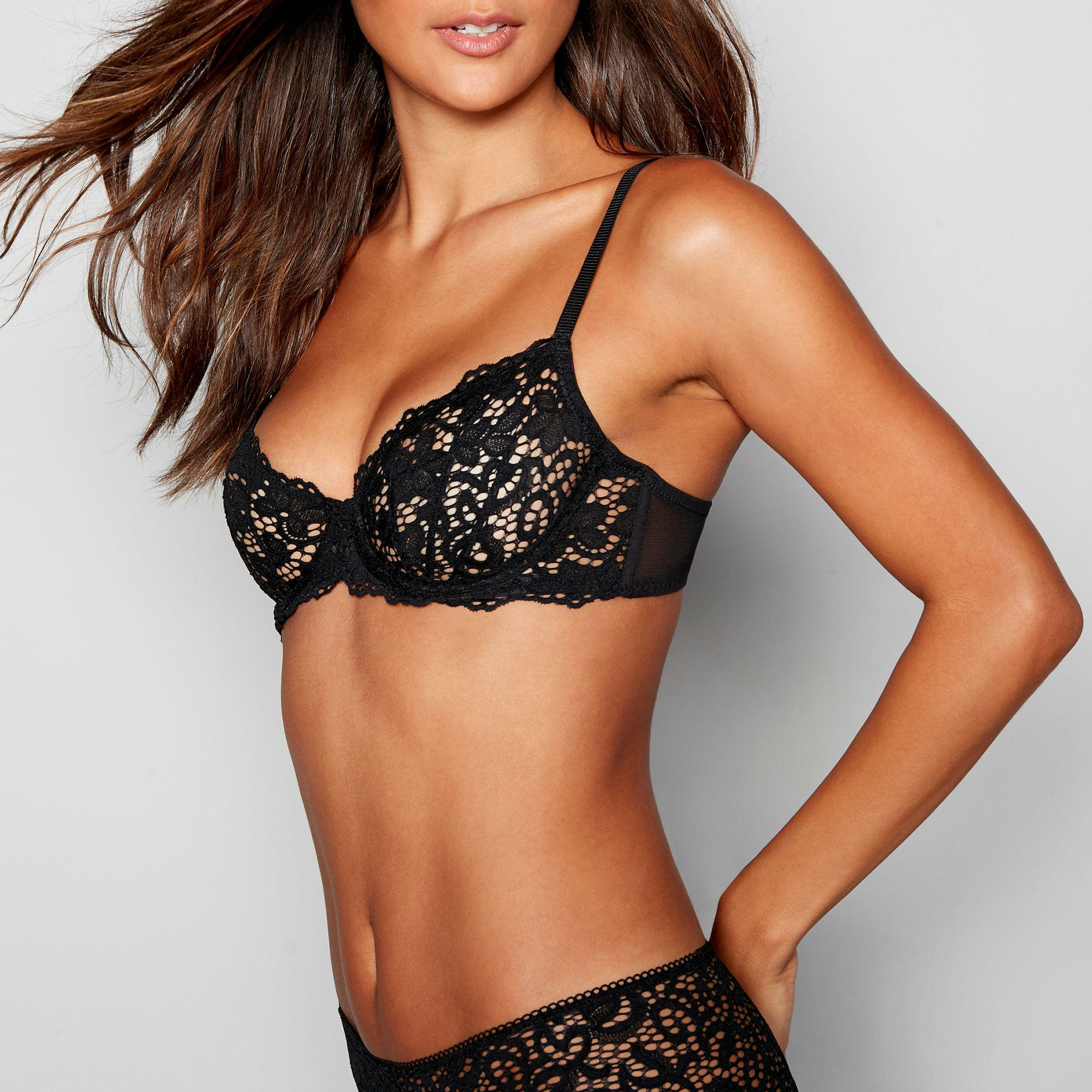 13096eee4e DKNY - Black Classic Lace Underwired Balcony Bra - Lyst. View fullscreen