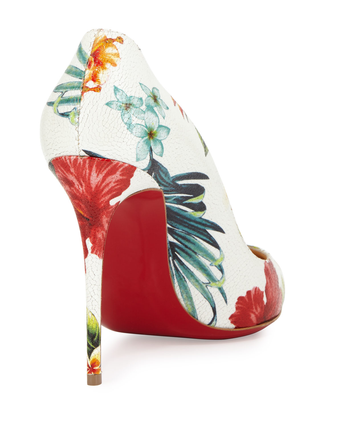 Christian louboutin Pigalle Follies Hawaii Pumps in White (WHITE ...
