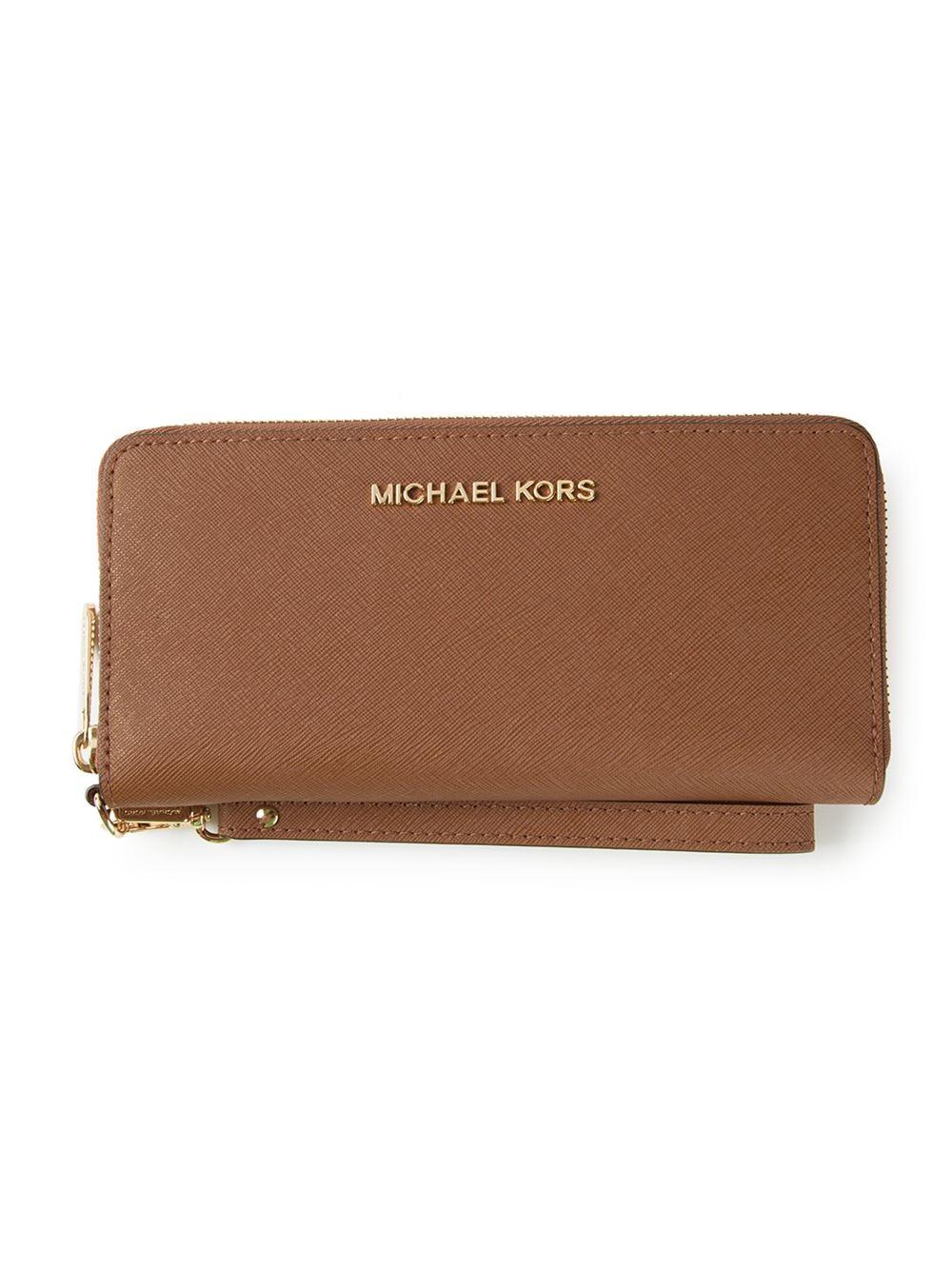 michael michael kors jet set wallet in brown lyst