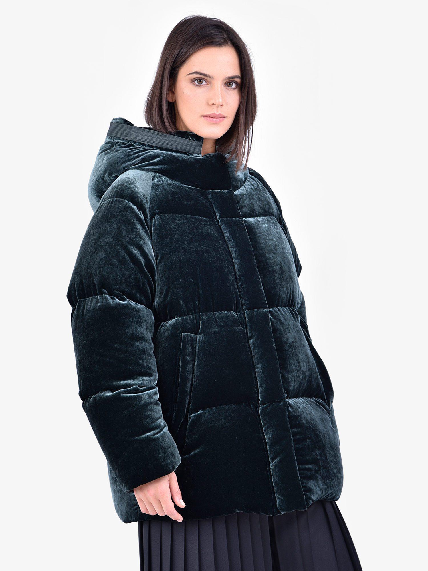 In Blue Lyst Moncler Velvet Padded Jacket Butor qwWOT0fg