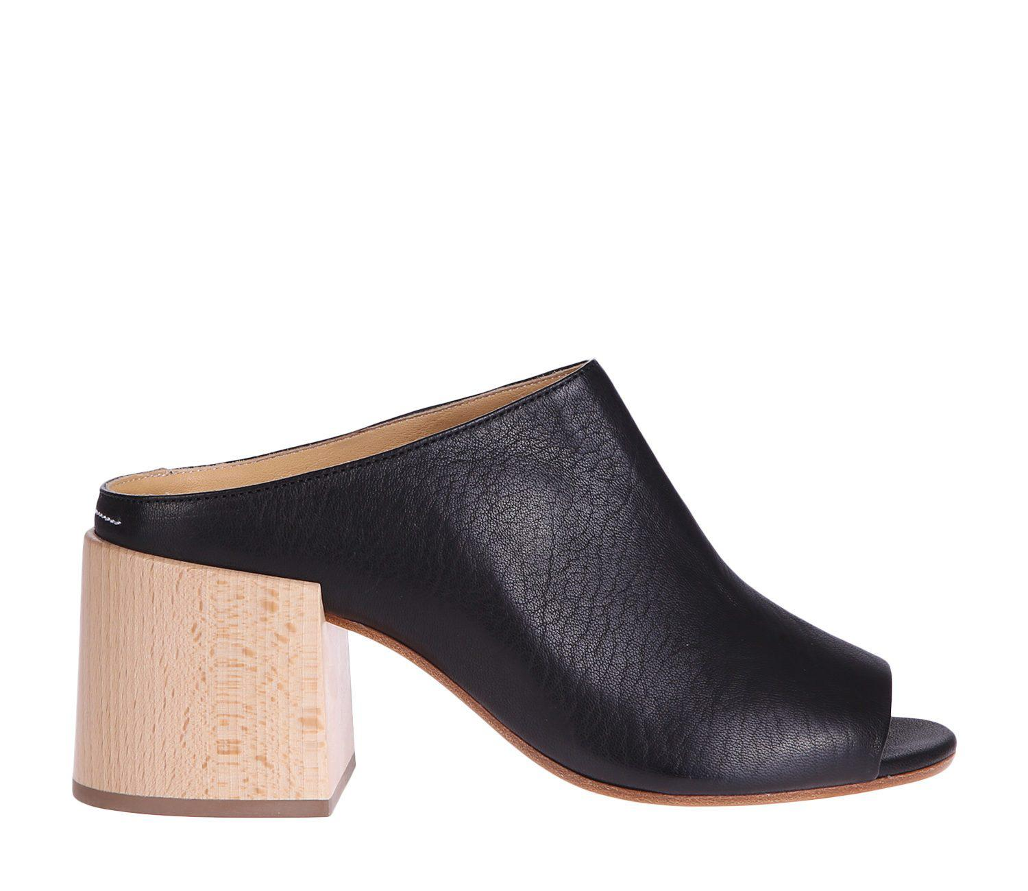 ee93e99d91b2 Lyst - Mm6 By Maison Martin Margiela Leather Mules - Save 50%