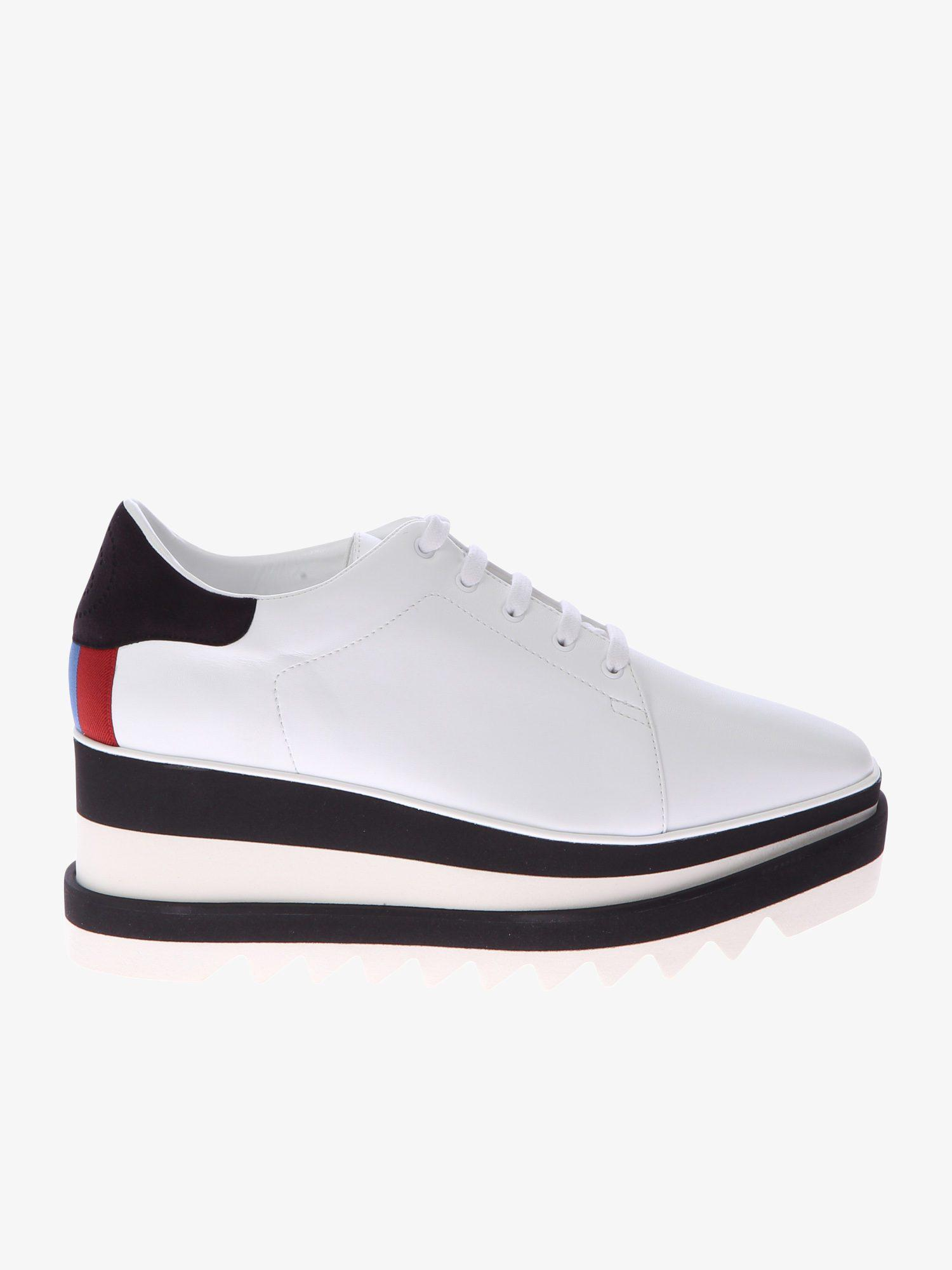 93bad3711f2 Lyst - Stella Mccartney Faux Leather Sneakers in White for Men ...