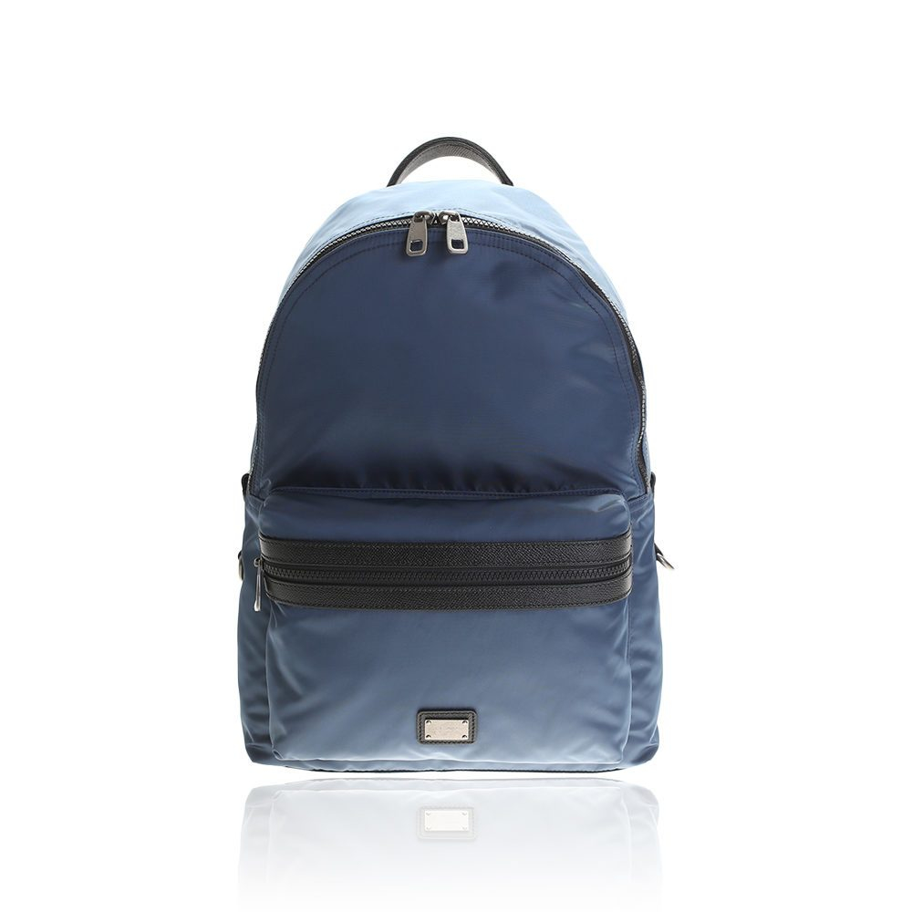 Lyst Dolce Amp Gabbana Light Blue Nylon Backpack In Blue