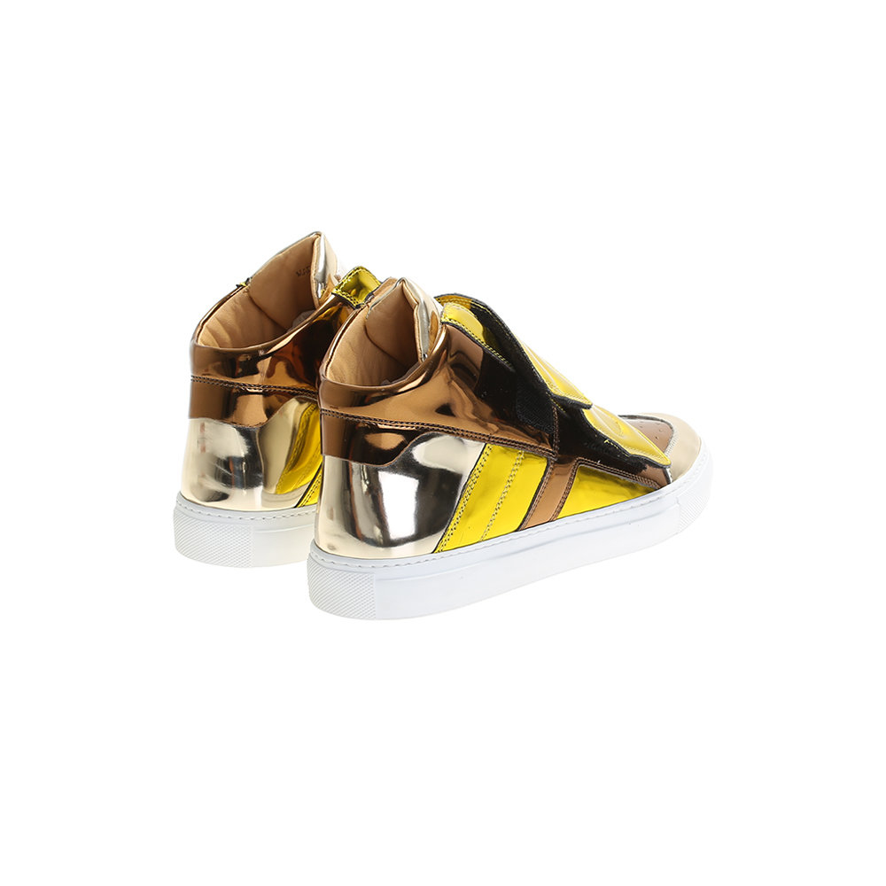 Mm6 by maison martin margiela laminated sneakers in for Mm6 maison margiela