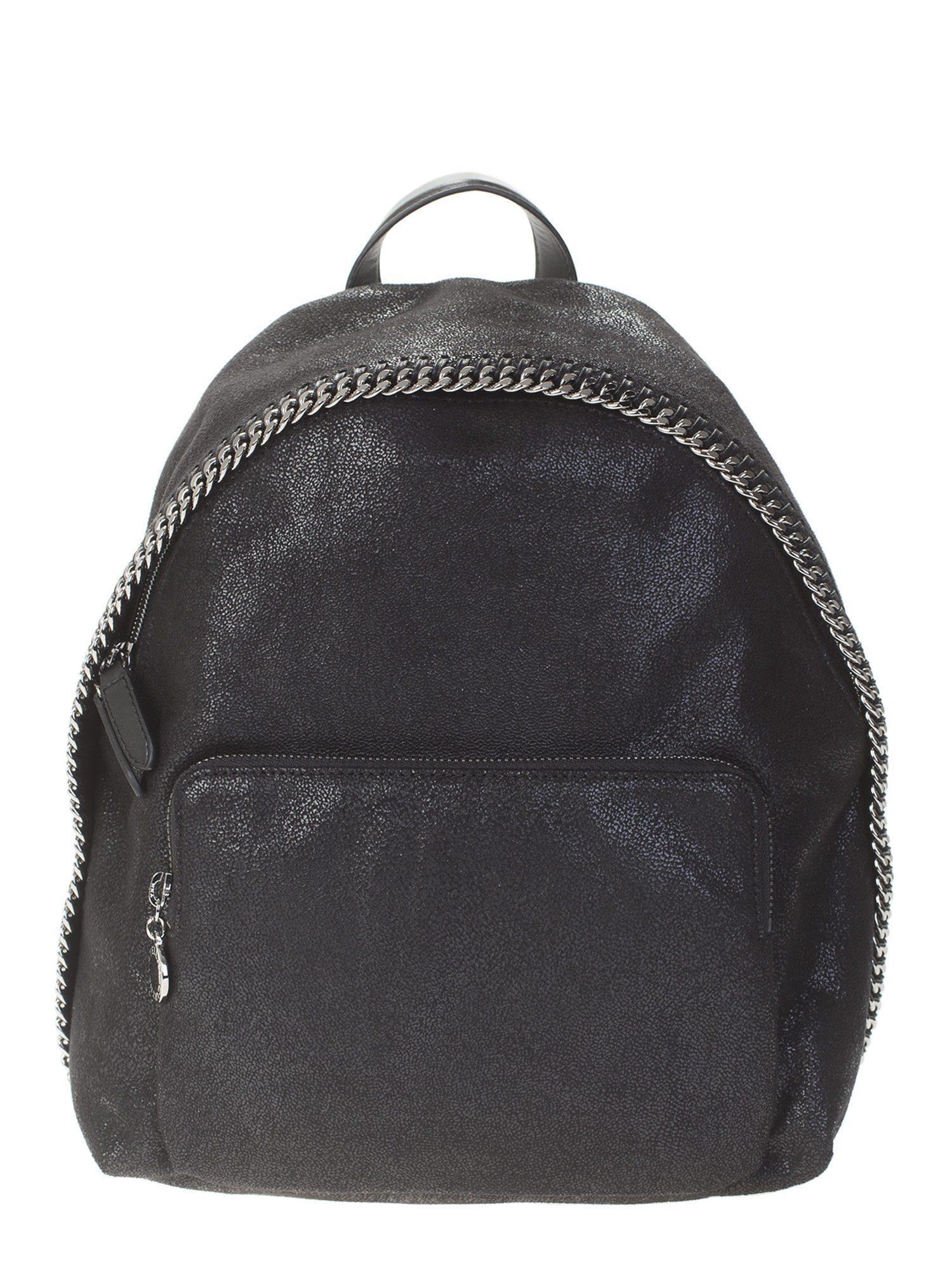 56552a732d56 Stella McCartney. Women s Black Falabella Shaggy Deer Faux Leather Backpack