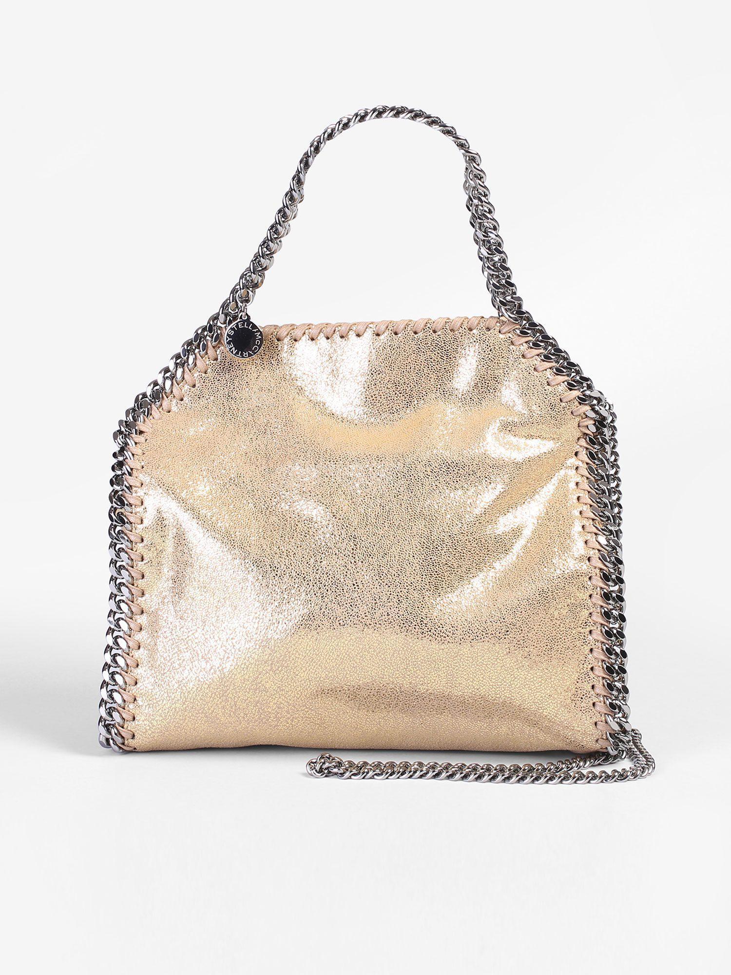Stella McCartney. Women s Natural Mini Falabella Triple Chain Faux Leather  Bag 7edbcfec2a334