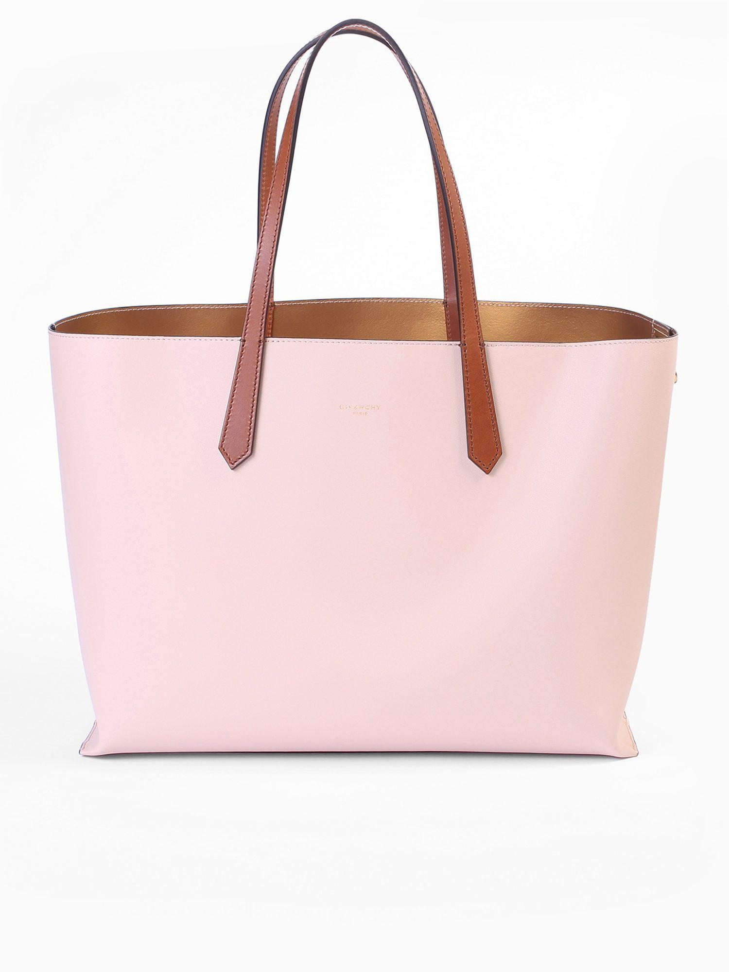 d74cdaeec755 Lyst - Givenchy Smooth Leather Tote Bag in Pink