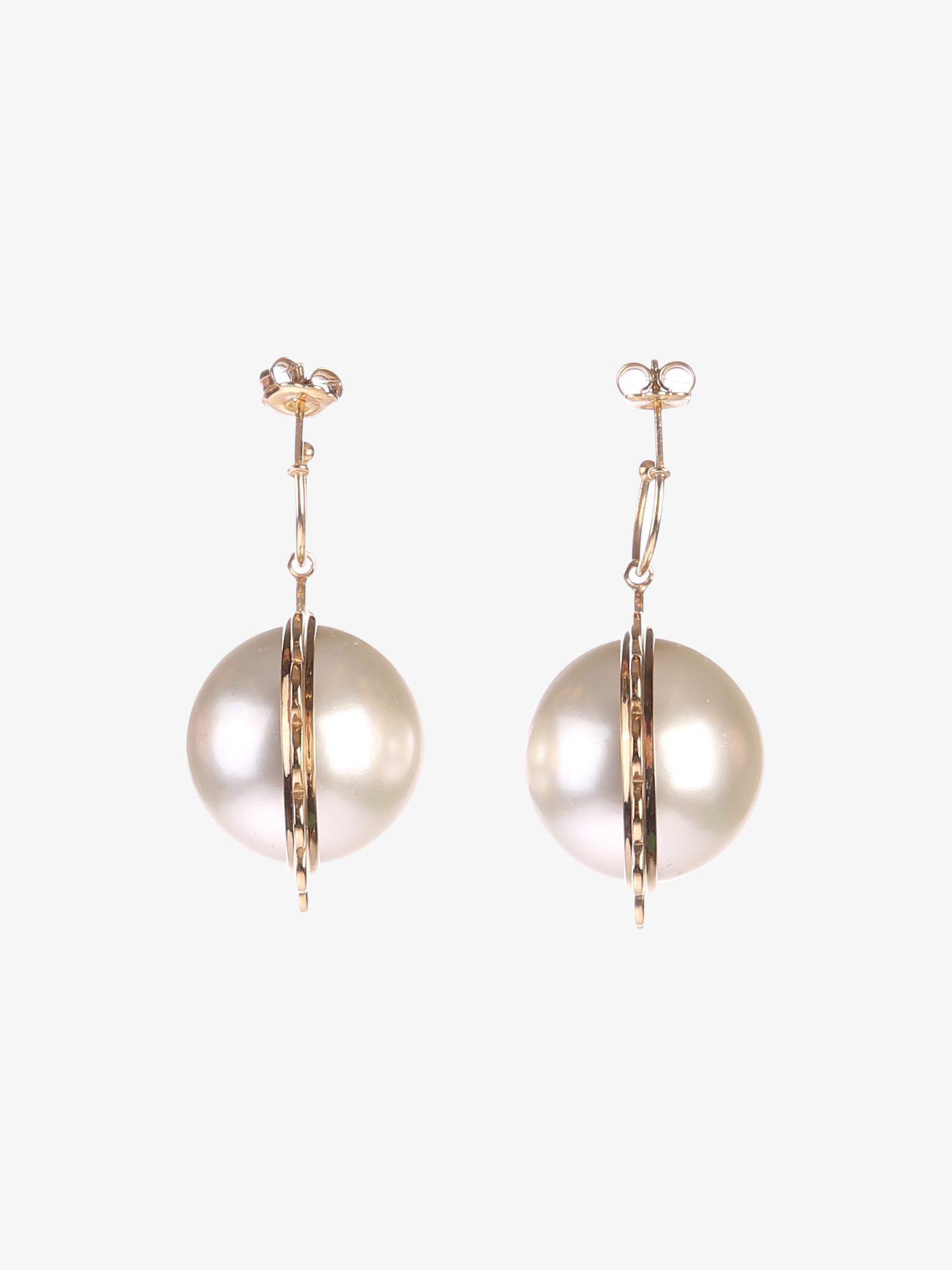 24kt gold-plated faux pearl earrings Simone Rocha E9IWO2Z