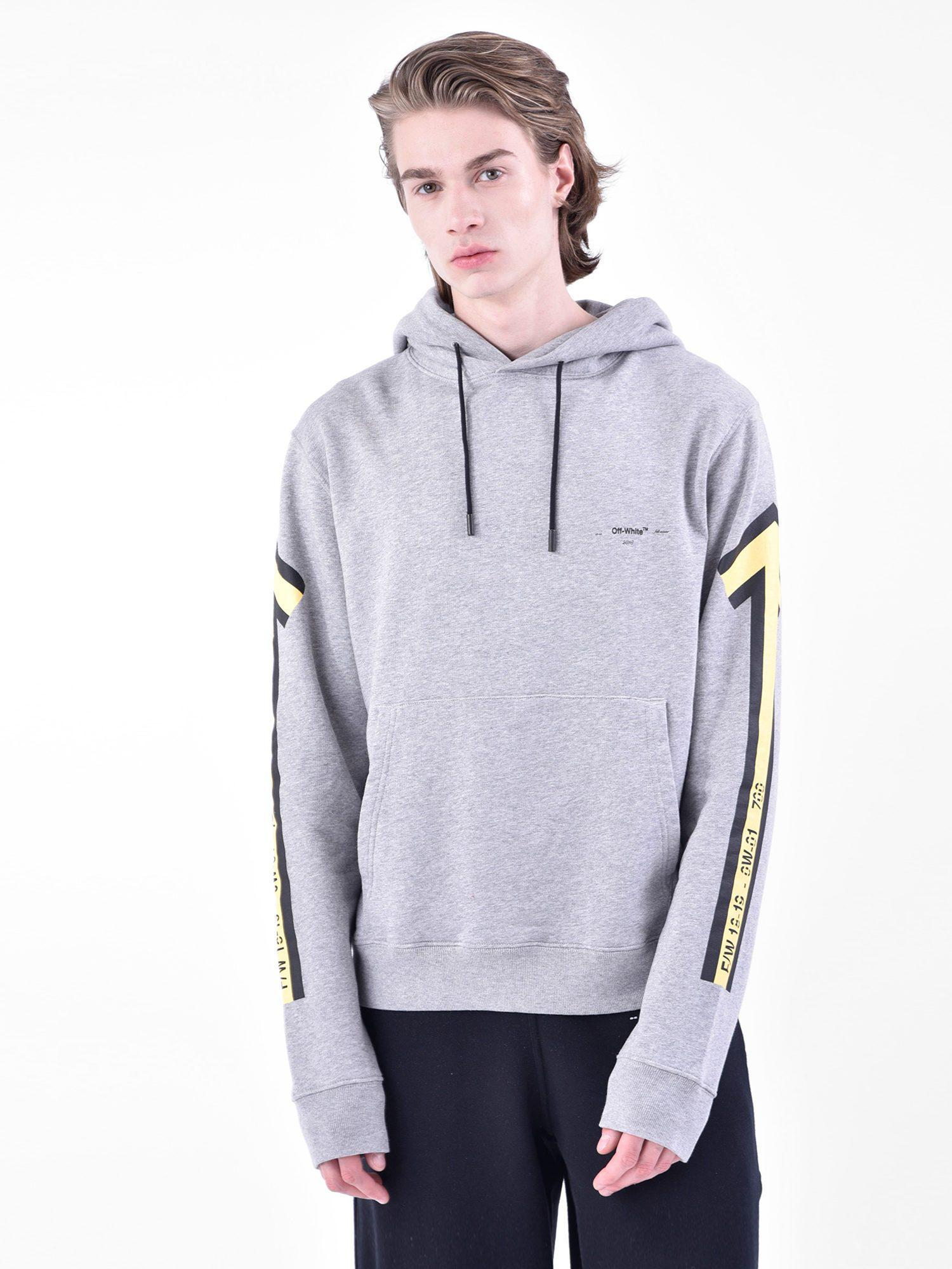 ... buy popular 85f52 e3594 Off-White C O Virgil Abloh Printed Cotton Hoodie  in Blue for ... e97496833