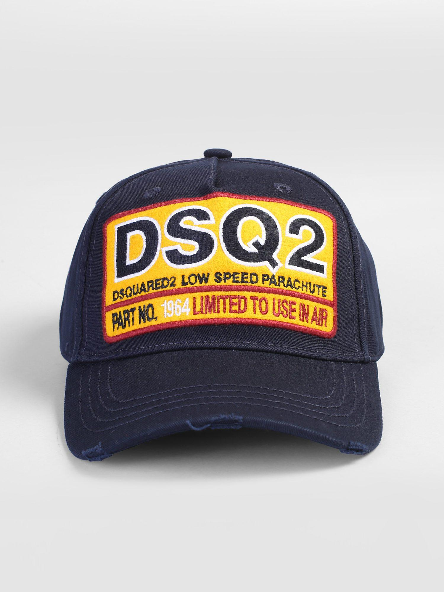 0bc54dd2c84 Lyst - Dsquared² Patched Baseball Hat in Blue for Men