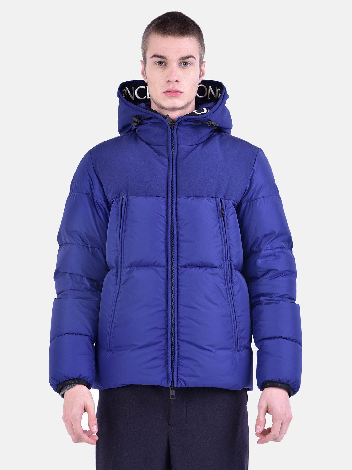 Men's Montclar Moncler Jacket Nylon Blue Padded 0wE0nPdqv