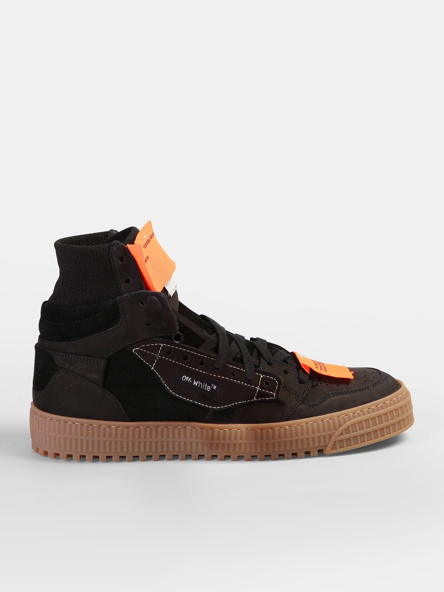 a73c39b4d03d Off-White c o Virgil Abloh. Men s Black Off Court Suede Leather Sneakers