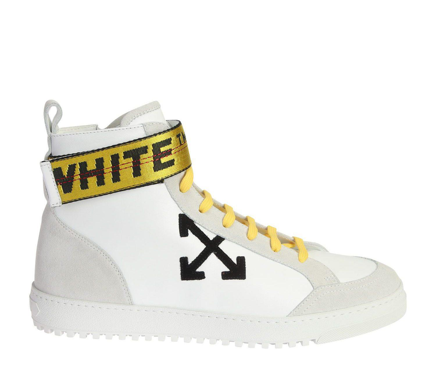 8dc8e44b7918 Off-White c o Virgil Abloh Security High-top Leather Sneakers in ...