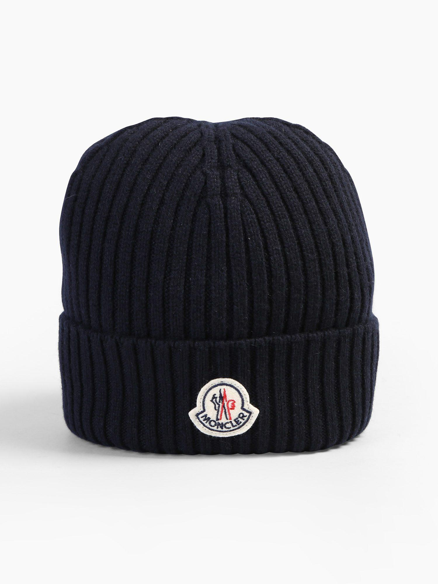 23ab6fadb3b Moncler Cashmere Beanie for Men - Lyst