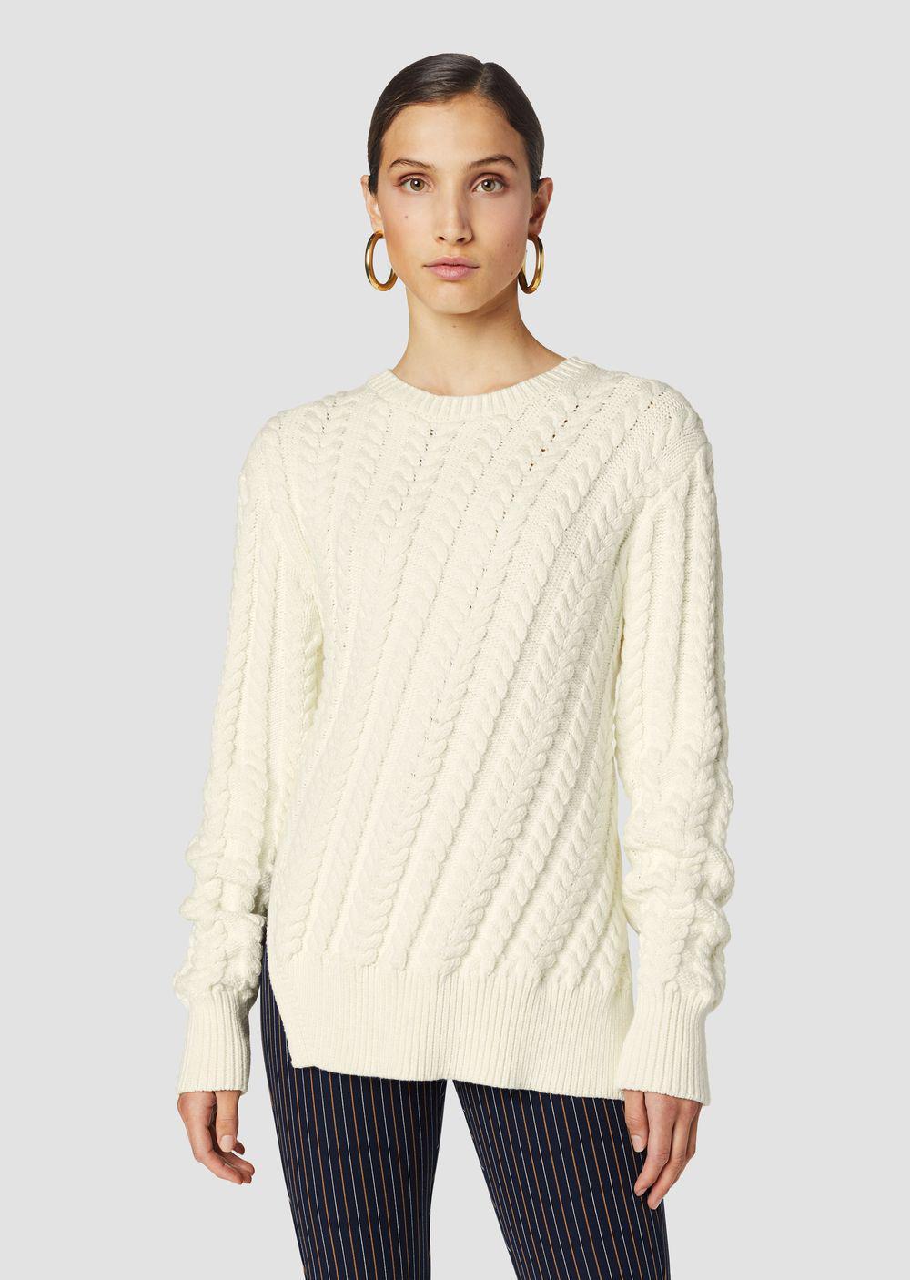684a83f4e1 Lyst - 10 Crosby Derek Lam Crew Neck Sweater in White