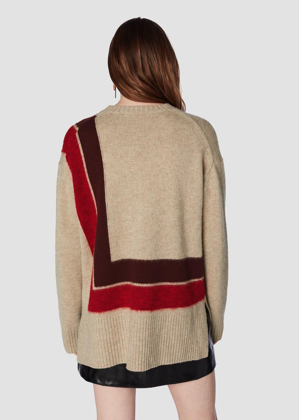 fa06866190 Lyst - 10 Crosby Derek Lam Crewneck Blanket Sweater in Red