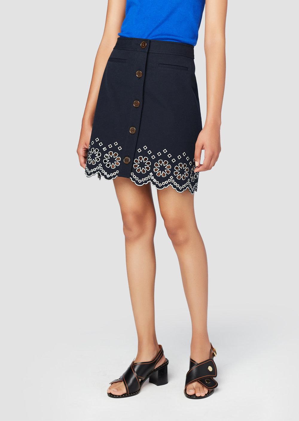 Cheap Sale Visit A-Line Mini Skirt - Blue Derek Lam Cheap Sale Real Ebay Sale Online Cheap Sale 2018 New owE0de4p